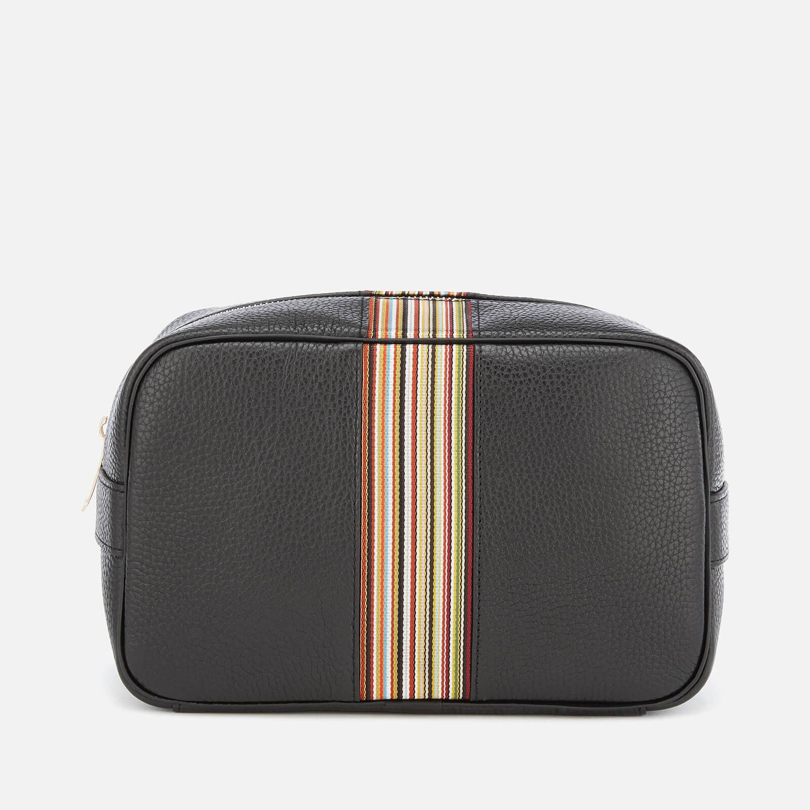 PS Paul Smith Men's Signature Stripe Wash Bag - Black Pebble
