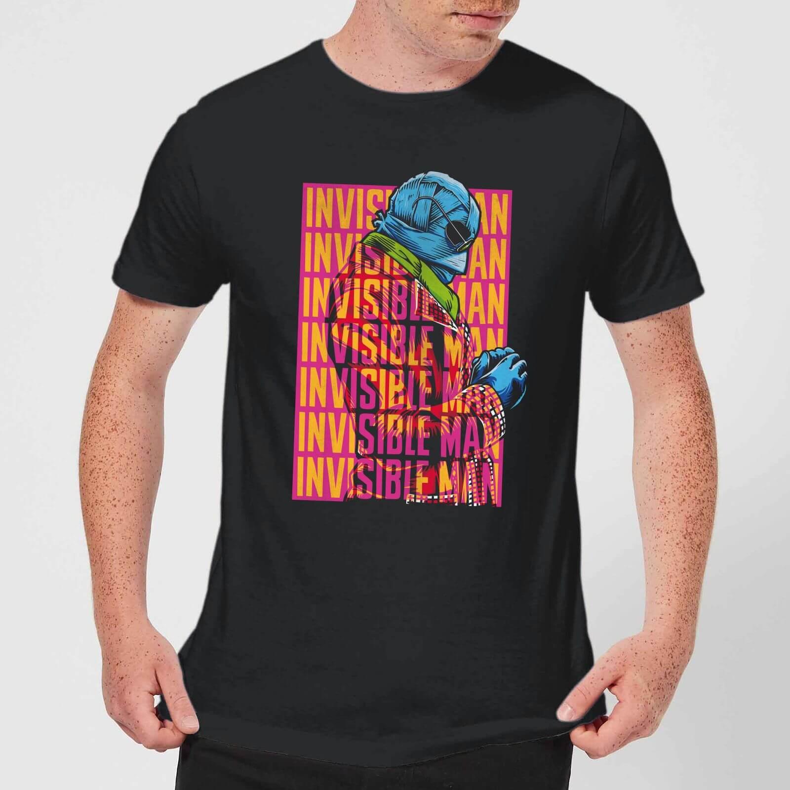 Universal Monsters Invisible Man Retro Men's T-Shirt - Black - S - Black