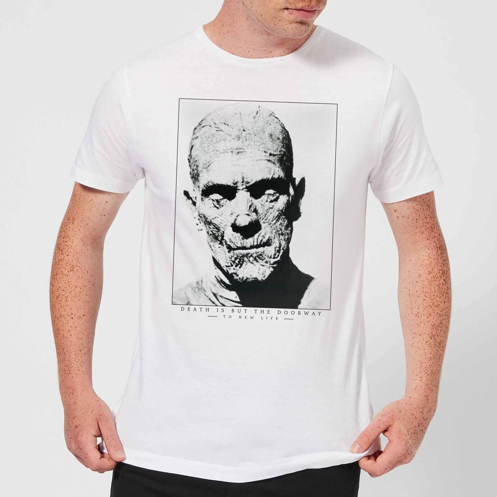 Universal Monsters The Mummy Portrait Men's T-Shirt - White - S - White