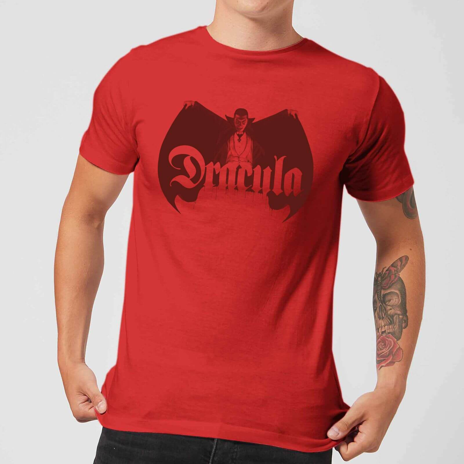 Universal Monsters Dracula Crest Men's T-Shirt - Red - S - Red