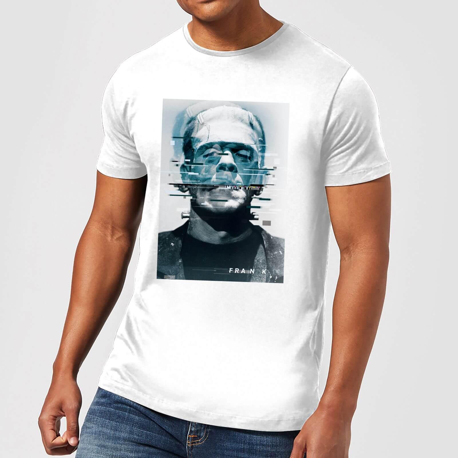 Universal Monsters Frankenstein Glitch Men's T-Shirt - White - S - White