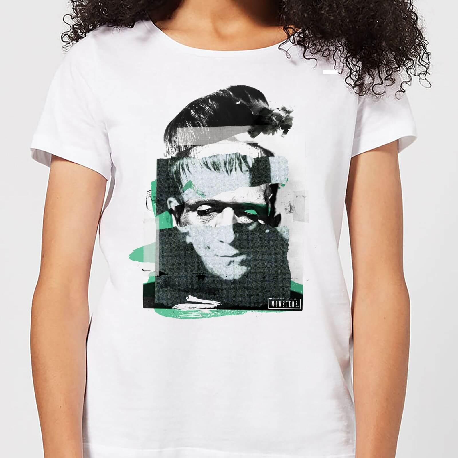Universal Monsters Frankenstein Collage Damen T-Shirt - Weiß - 3XL - Weiß