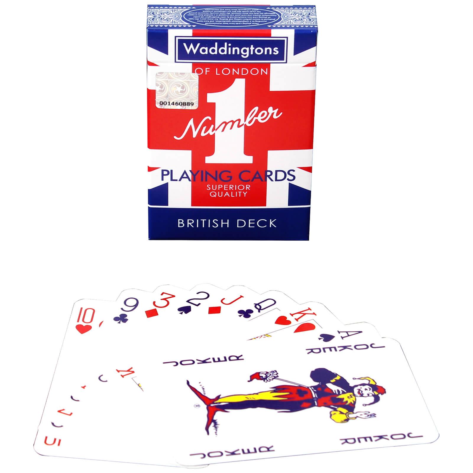 Image of Waddingtons Number 1 Playing Cards - Union Jack Edition