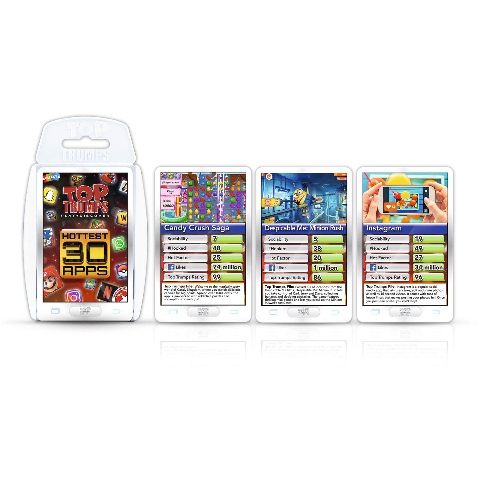 Image of Top Trumps Card Game - Hottest 30 Apps Edition
