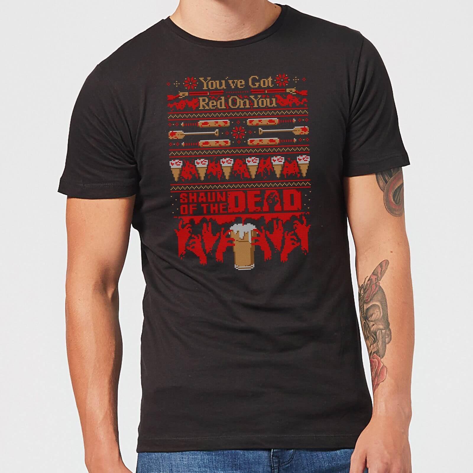 Shaun Of The Dead You've Got Red On You Kerst T Shirt Zwart XS Zwart