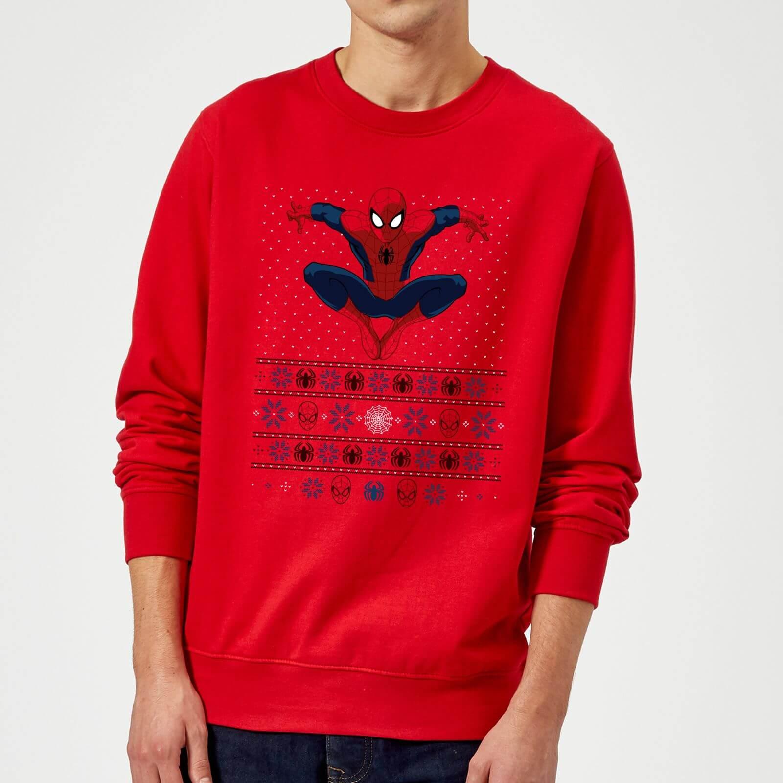 Marvel Avengers Spider-Man Christmas Sweatshirt - Red - XL - Red