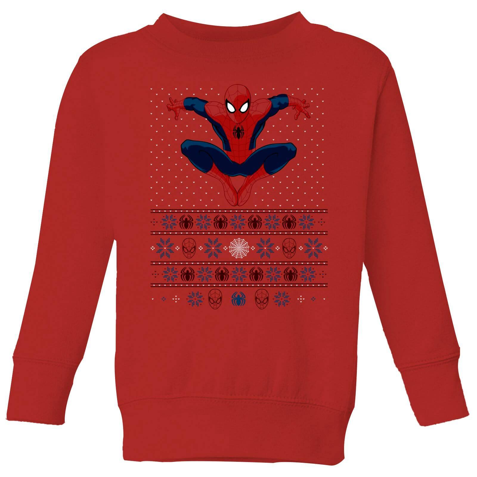 Marvel Avengers Spider Man Kids Christmas Sweatshirt   Red   5 6 Years   Red