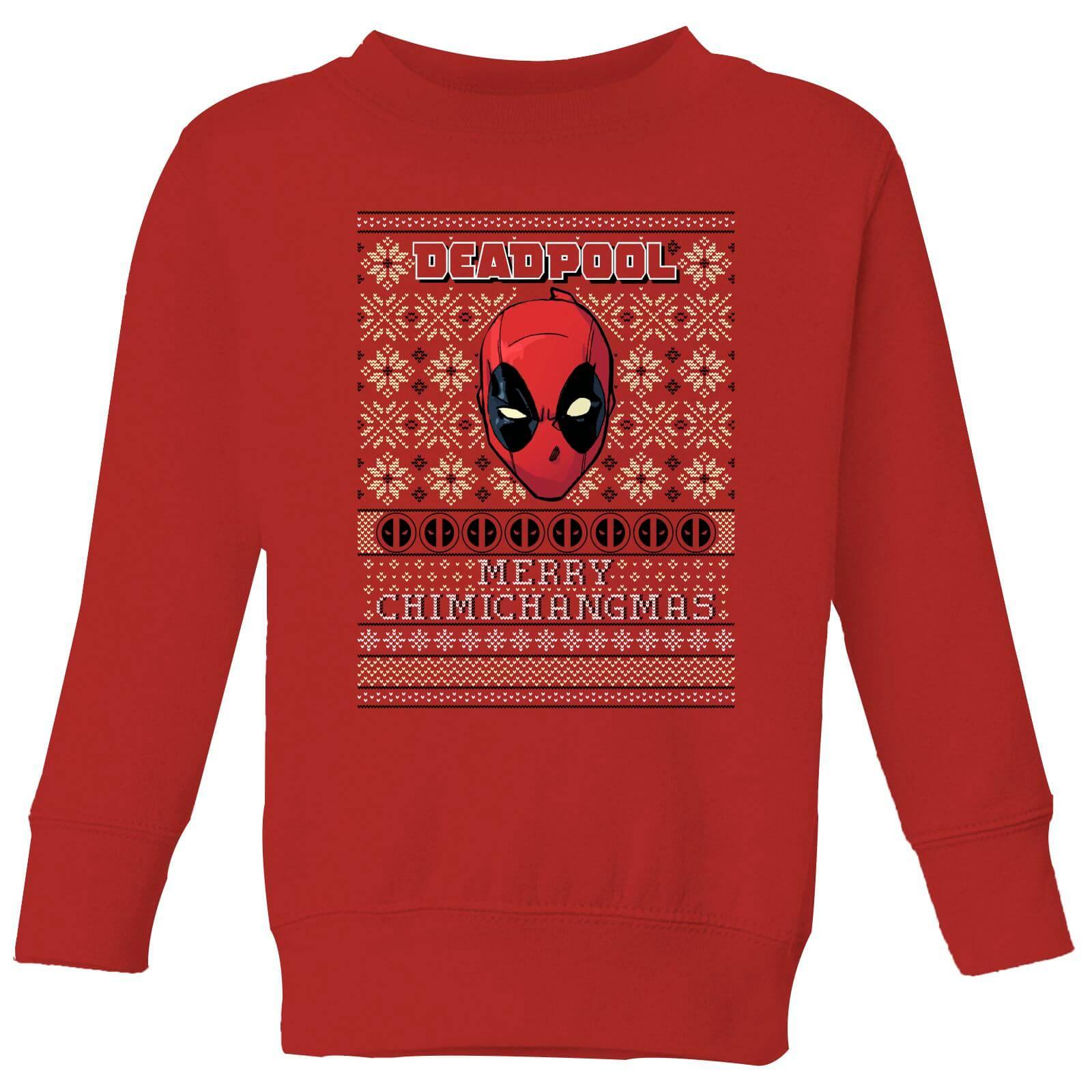 Marvel Deadpool Kinder Pullover - Rot - 7-8 Jahre - Rot
