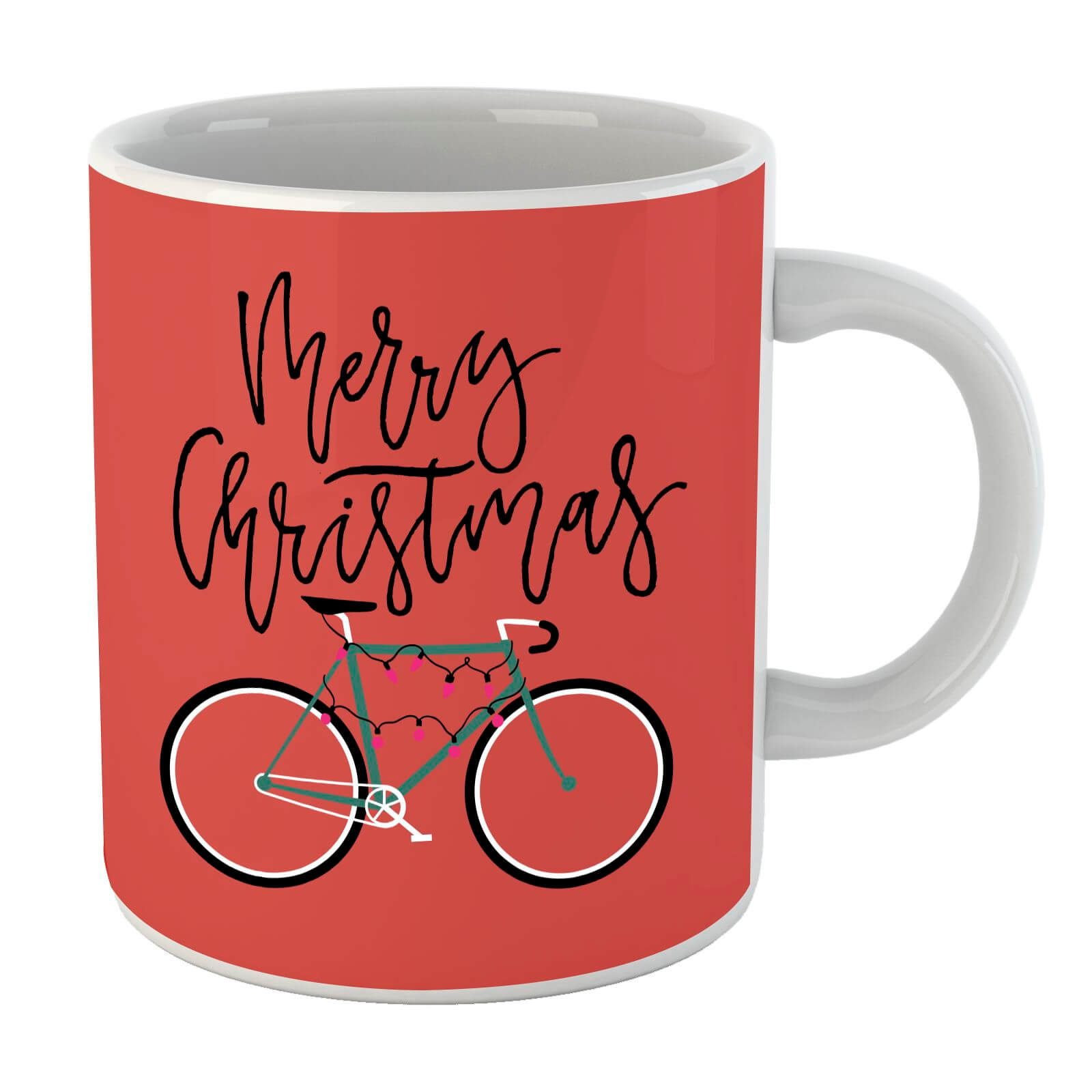 Bike Lights Christmas Mug