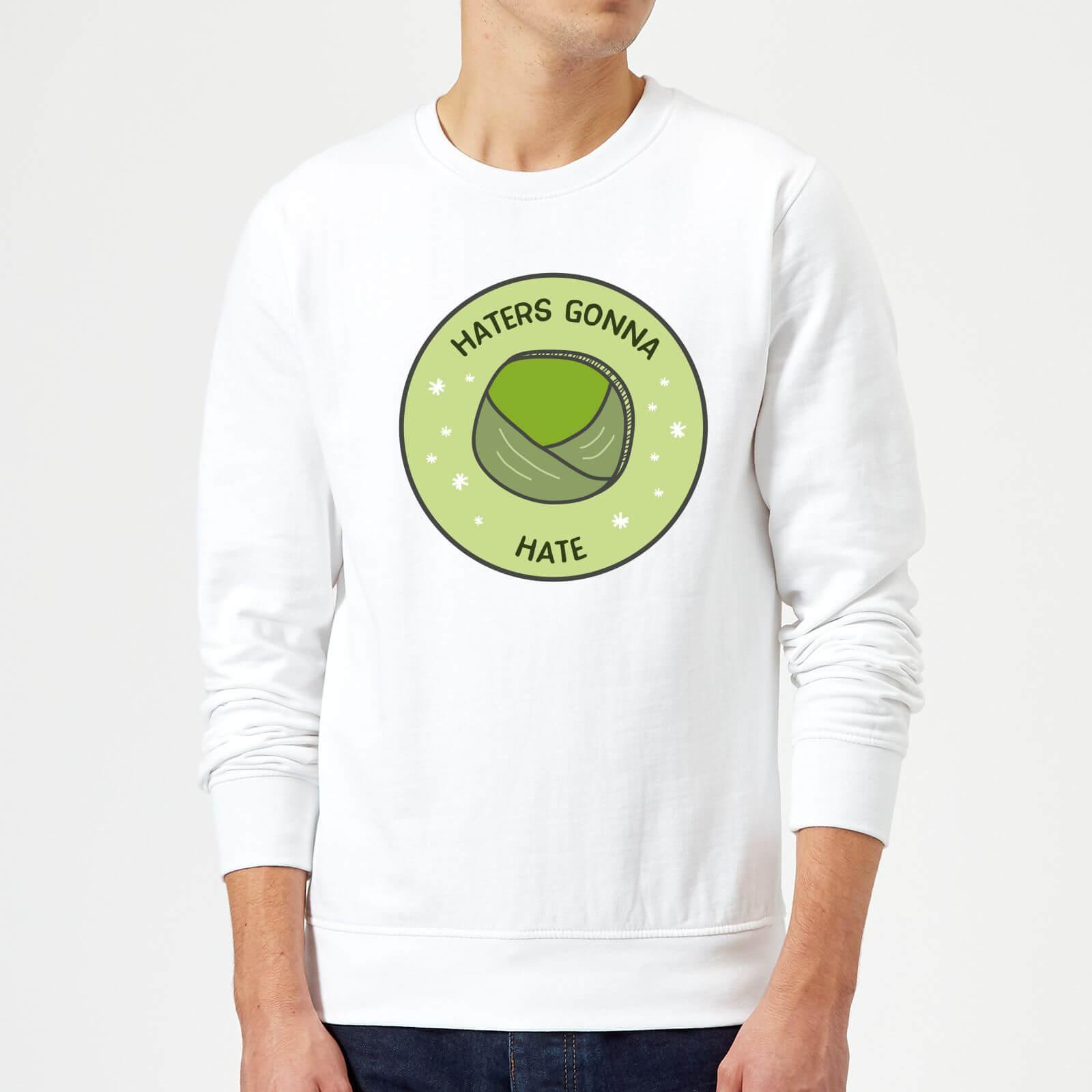 Haters Gonna Hate Christmas Sweatshirt - White - XL - White