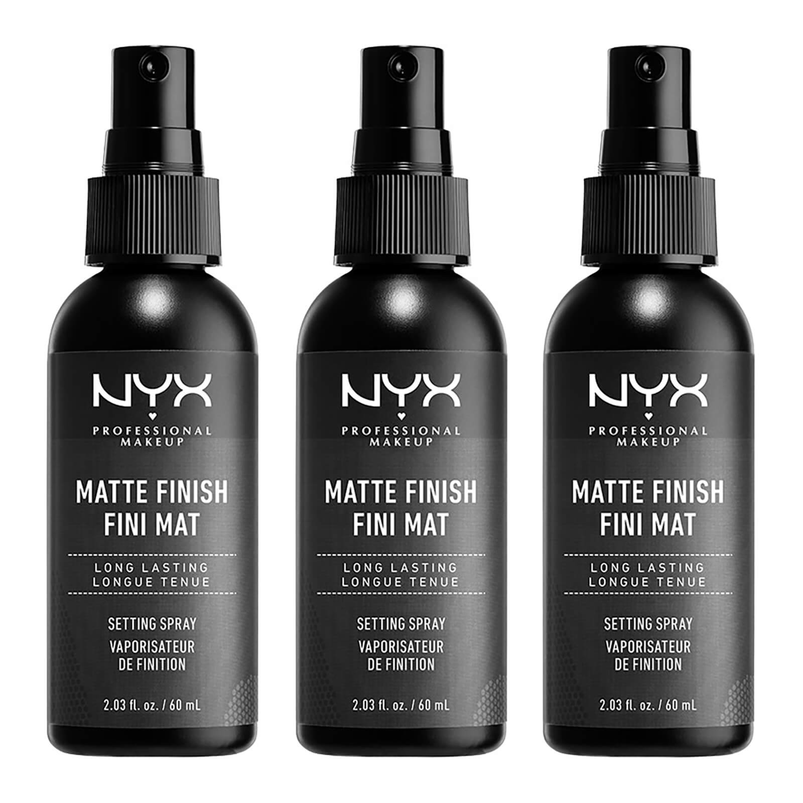 NYX Professional Makeup Matte Setting Spray x 3 (Worth £21.00)