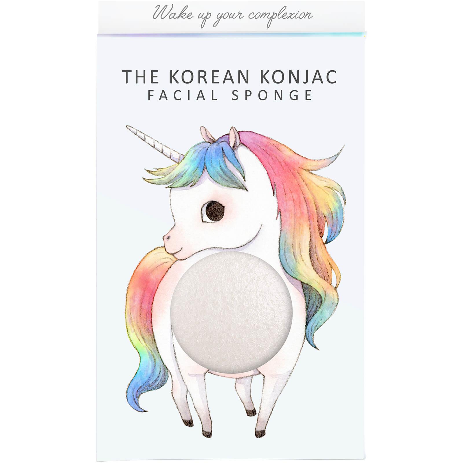 Купить Спонж для лица и крючок The Konjac Sponge Company Mythical Unicorn Standing Konjac Sponge Box and Hook — White 30 г