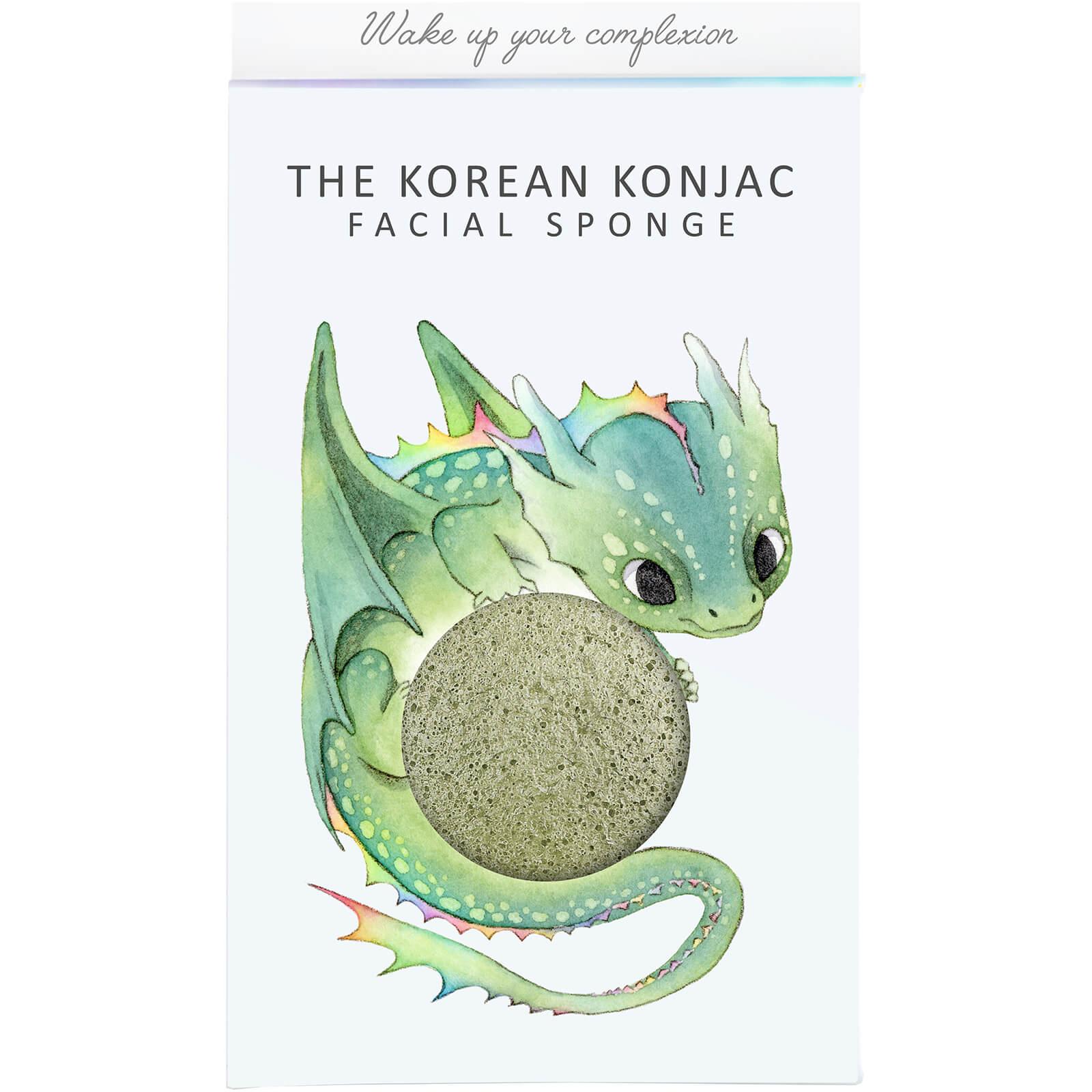 Купить Спонж для лица и крючок The Konjac Sponge Company Mythical Dragon Konjac Sponge Box and Hook — Green Clay 30 г
