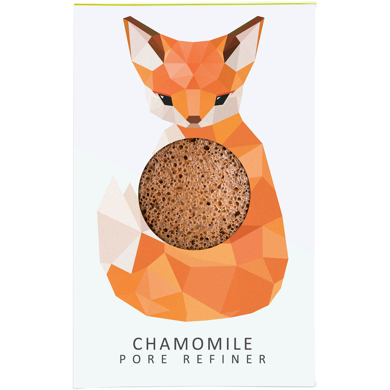 Купить Мини-спонж для лица The Konjac Sponge Company Woodland Fox Pure Konjac Mini Pore Refiner — Chamomile 12 г