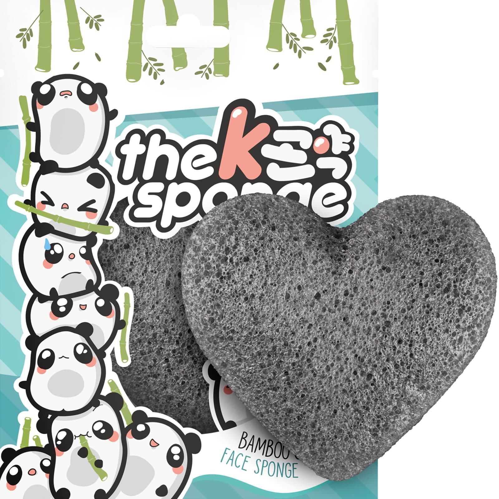 Купить Спонж в форме сердца The Konjac Sponge Company K-Sponge Heart Sponge — Bamboo Charcoal 12 г