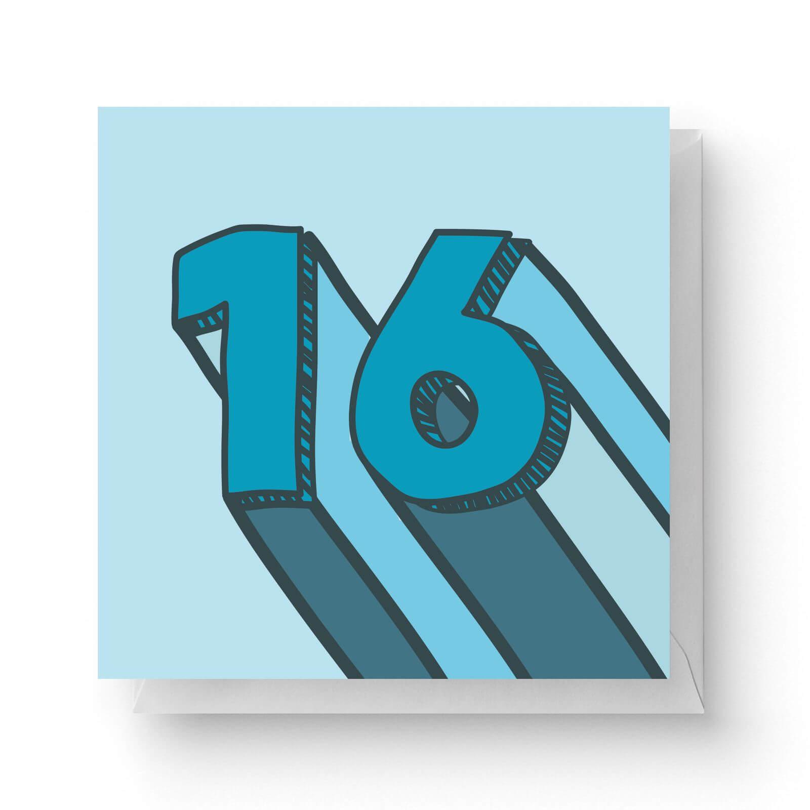 Image of 16 Square Greetings Card (14.8cm x 14.8cm)