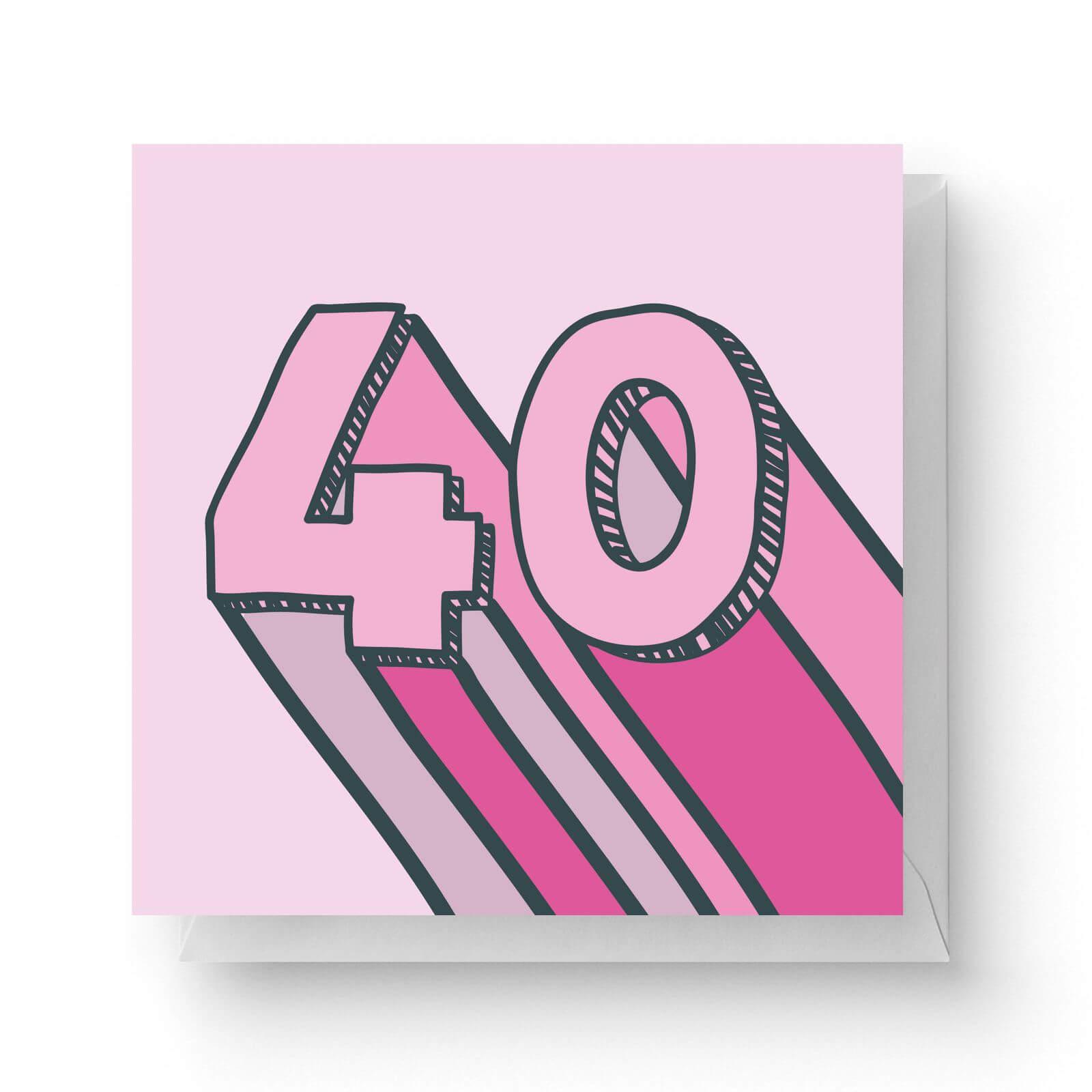 Image of 40 Square Greetings Card (14.8cm x 14.8cm)