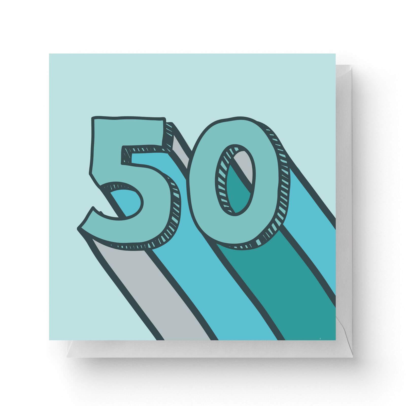 Image of 50 Square Greetings Card (14.8cm x 14.8cm)