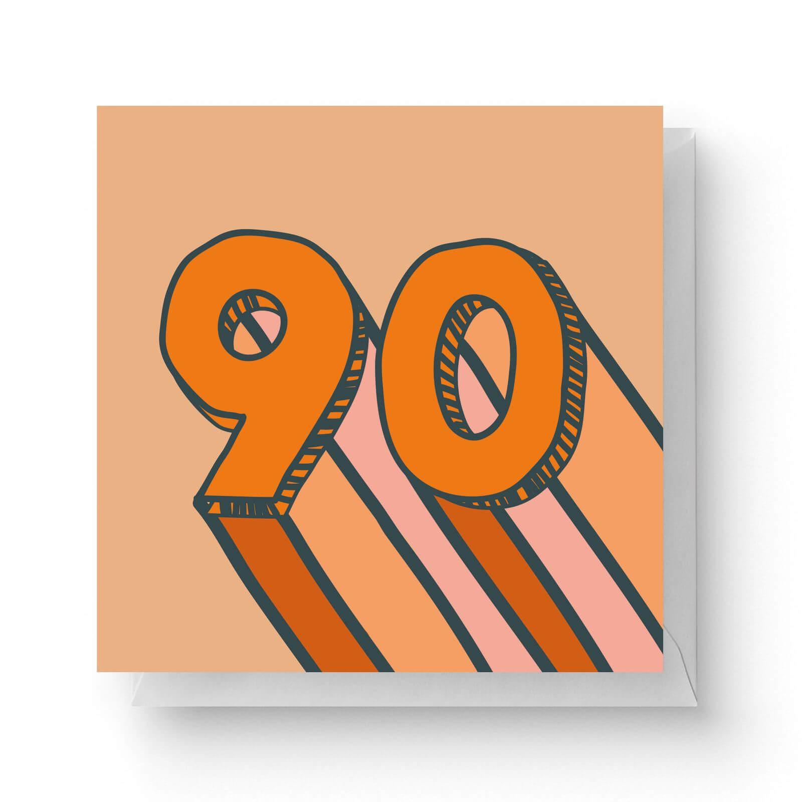 Image of 90 Square Greetings Card (14.8cm x 14.8cm)