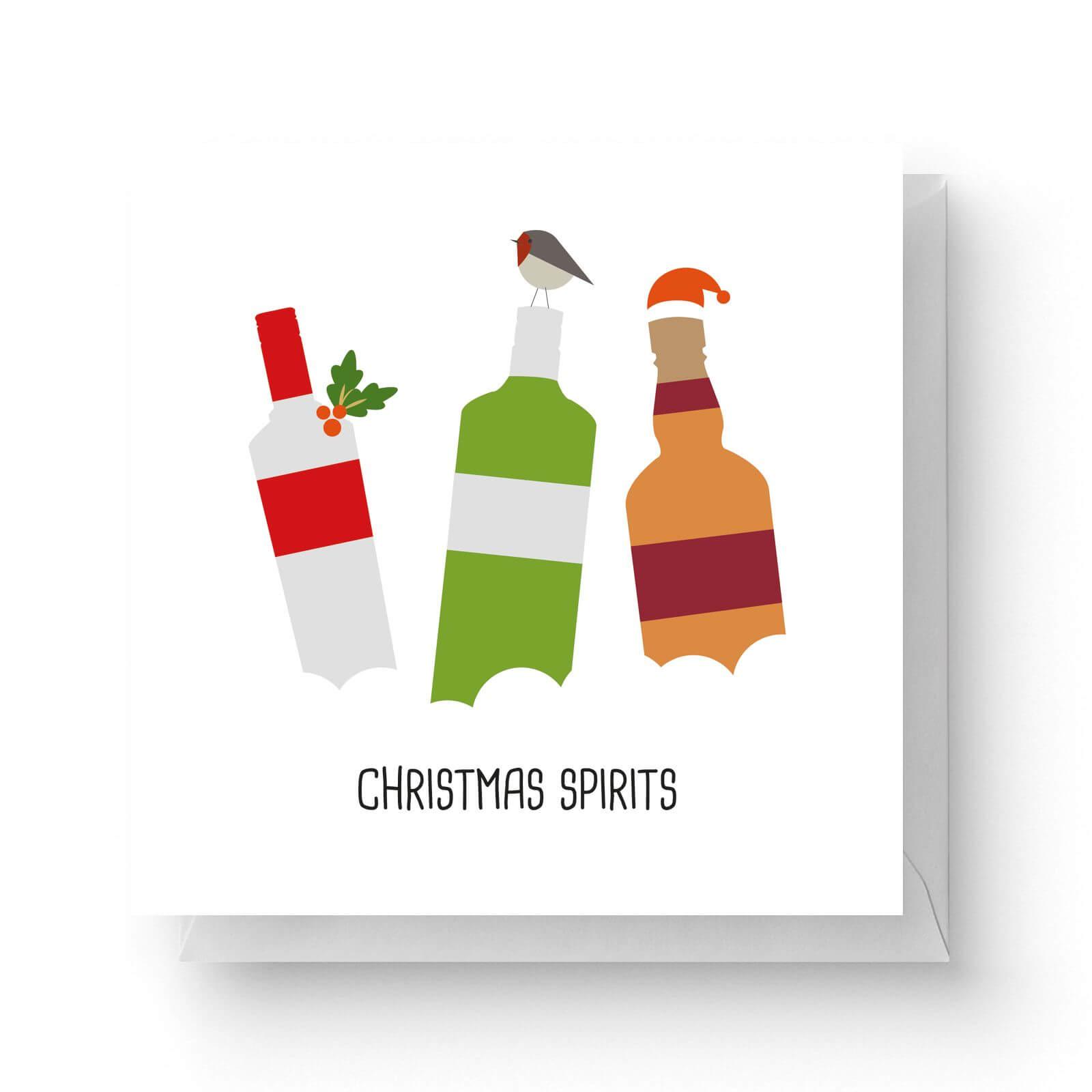 Image of Christmas Spirits Square Greetings Card (14.8cm x 14.8cm)