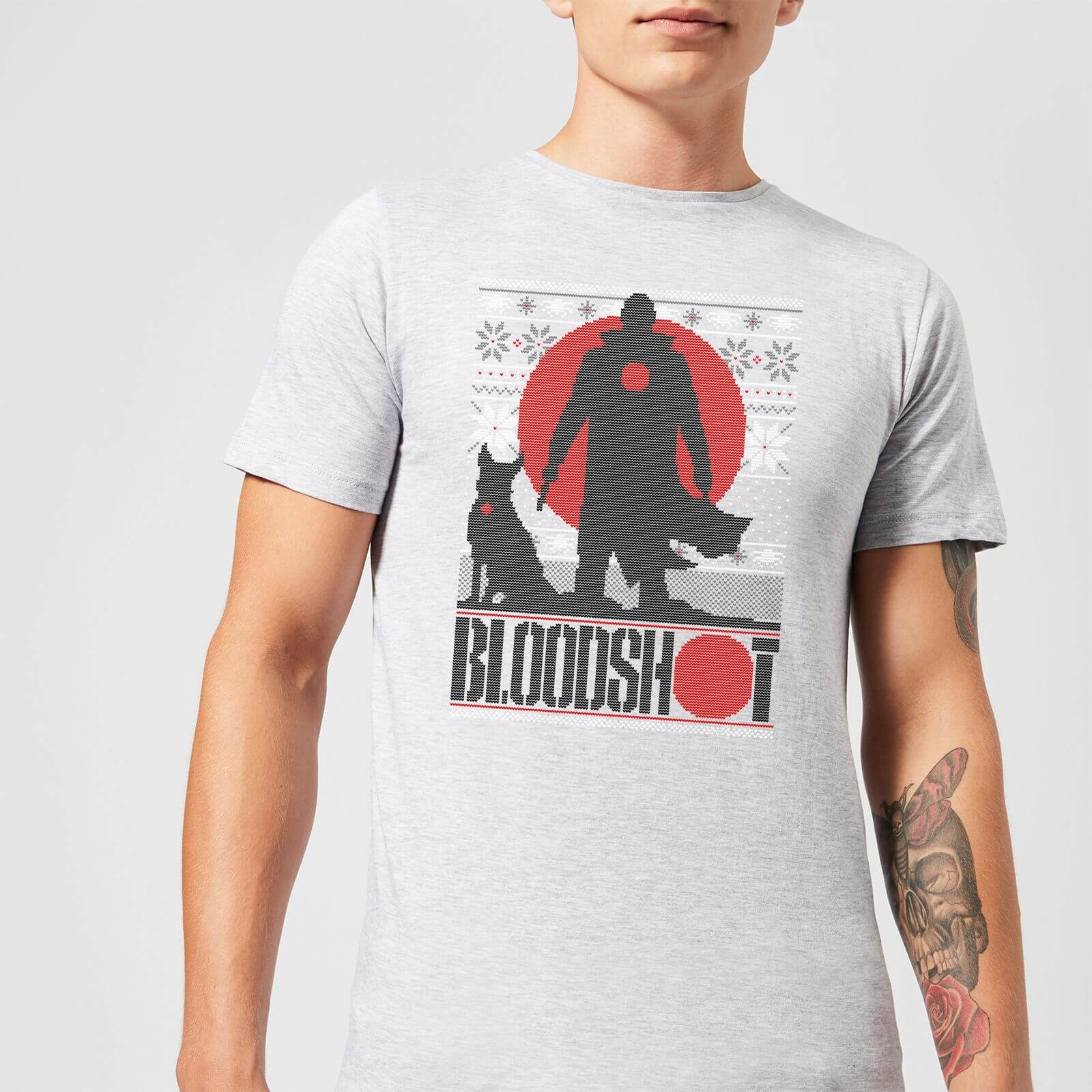 Valiant Bloodshot Men's Holiday T-Shirt - Grey - XS - Grau