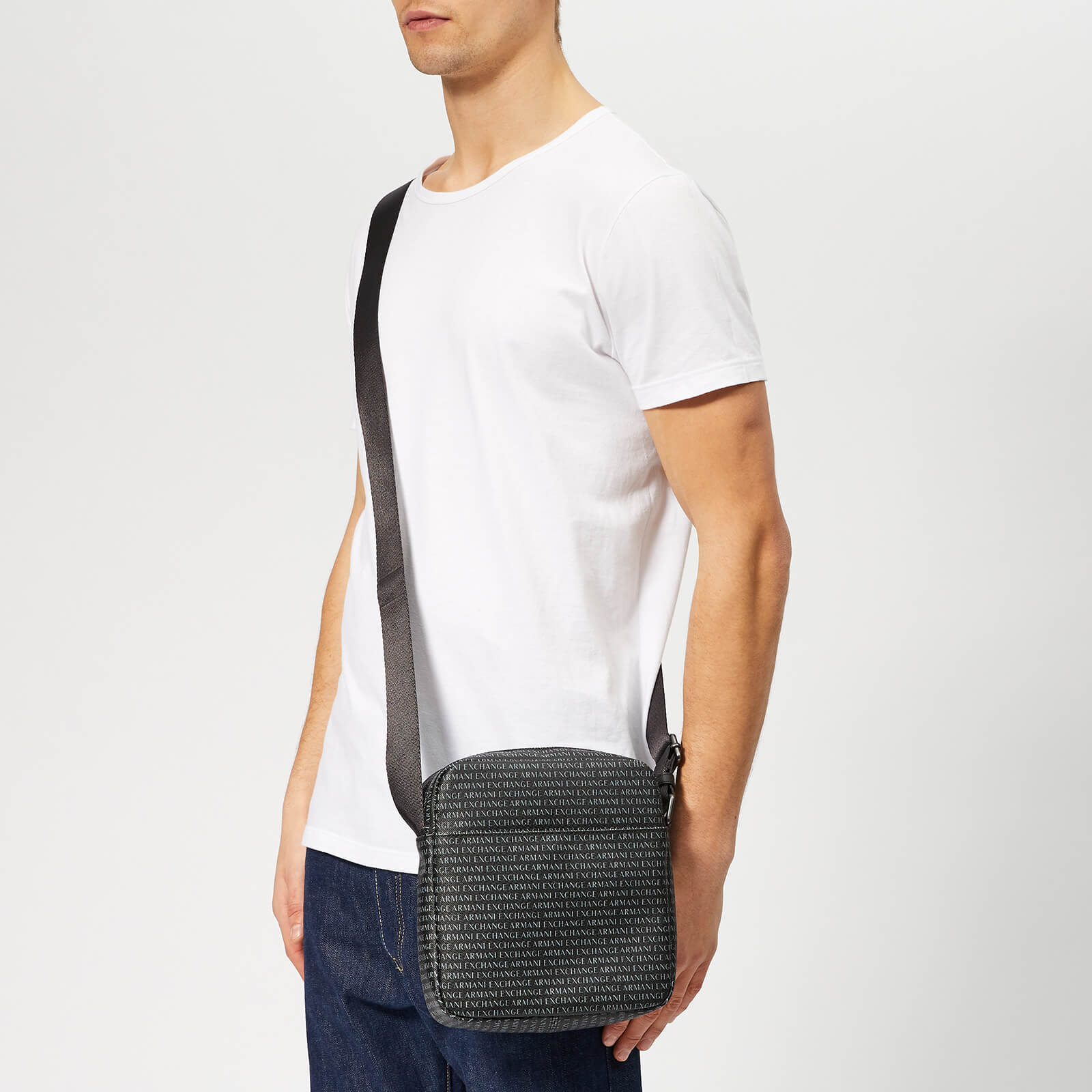 Armani Exchange Men's Reporter Bag - Nero