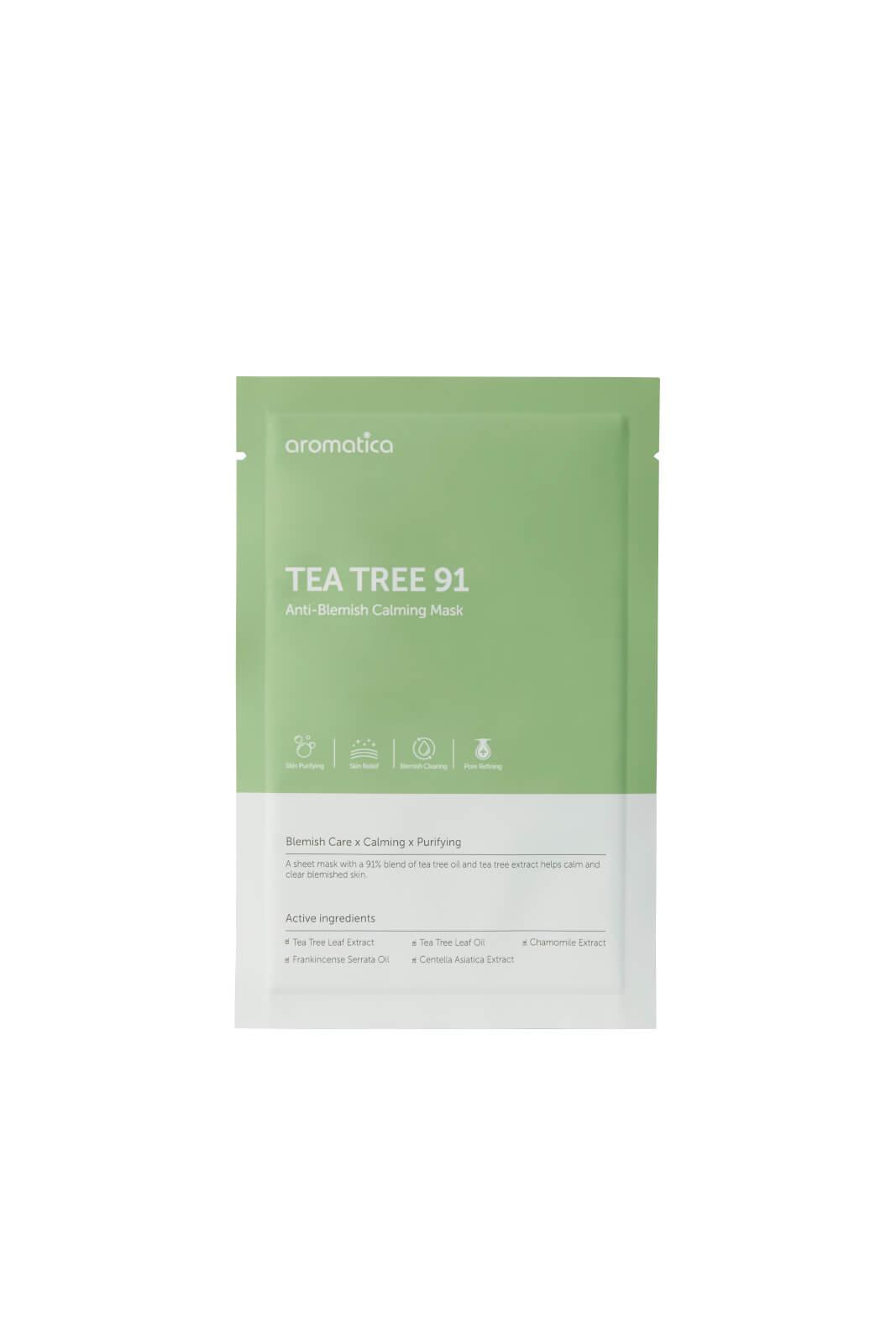Купить Успокаивающая маска для лица AROMATICA Tea Tree 91 Anti-Blemish Calming Mask (1 шт.)