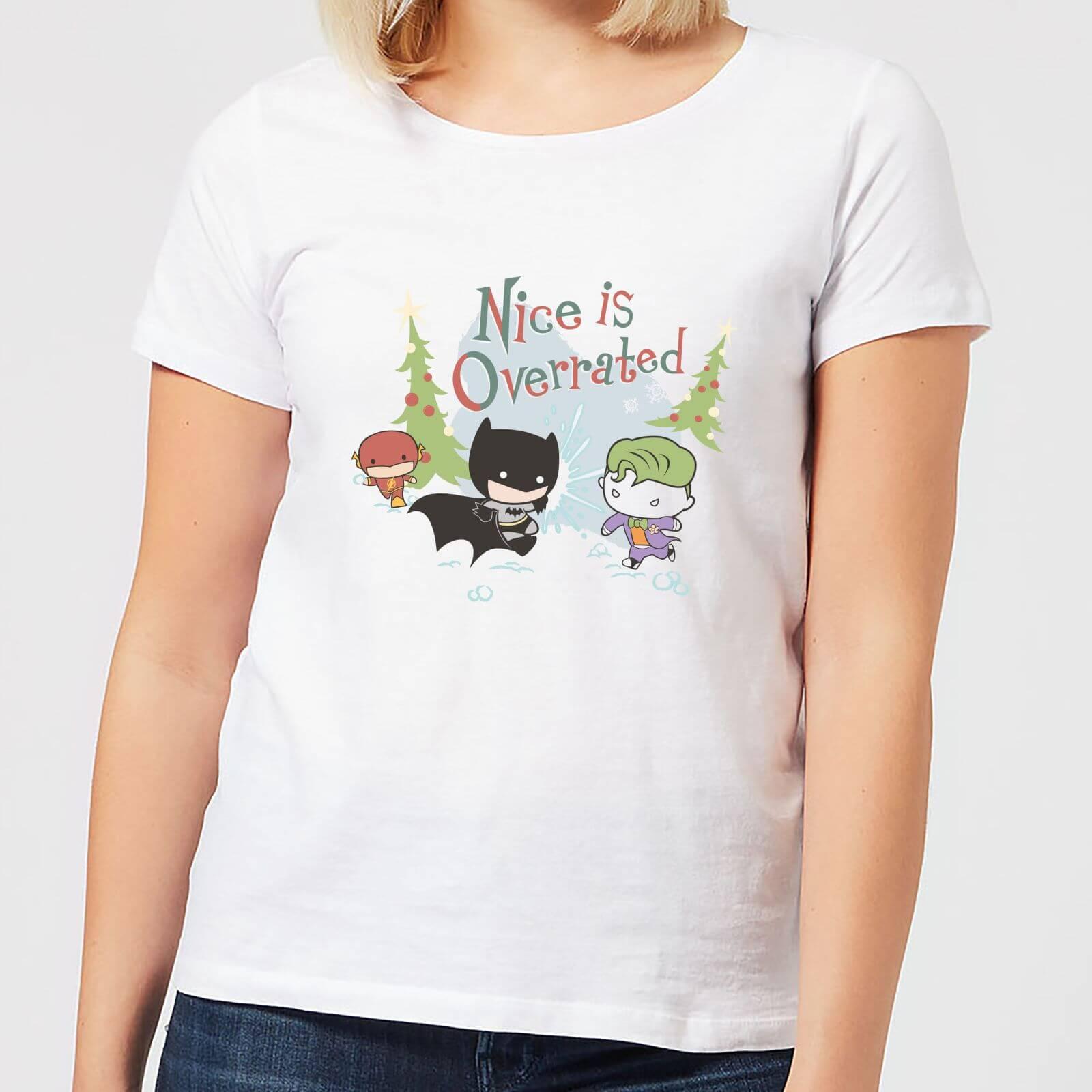 DC Nice Is Overrated Damen Christmas T-Shirt - Weiß - XL - Weiß