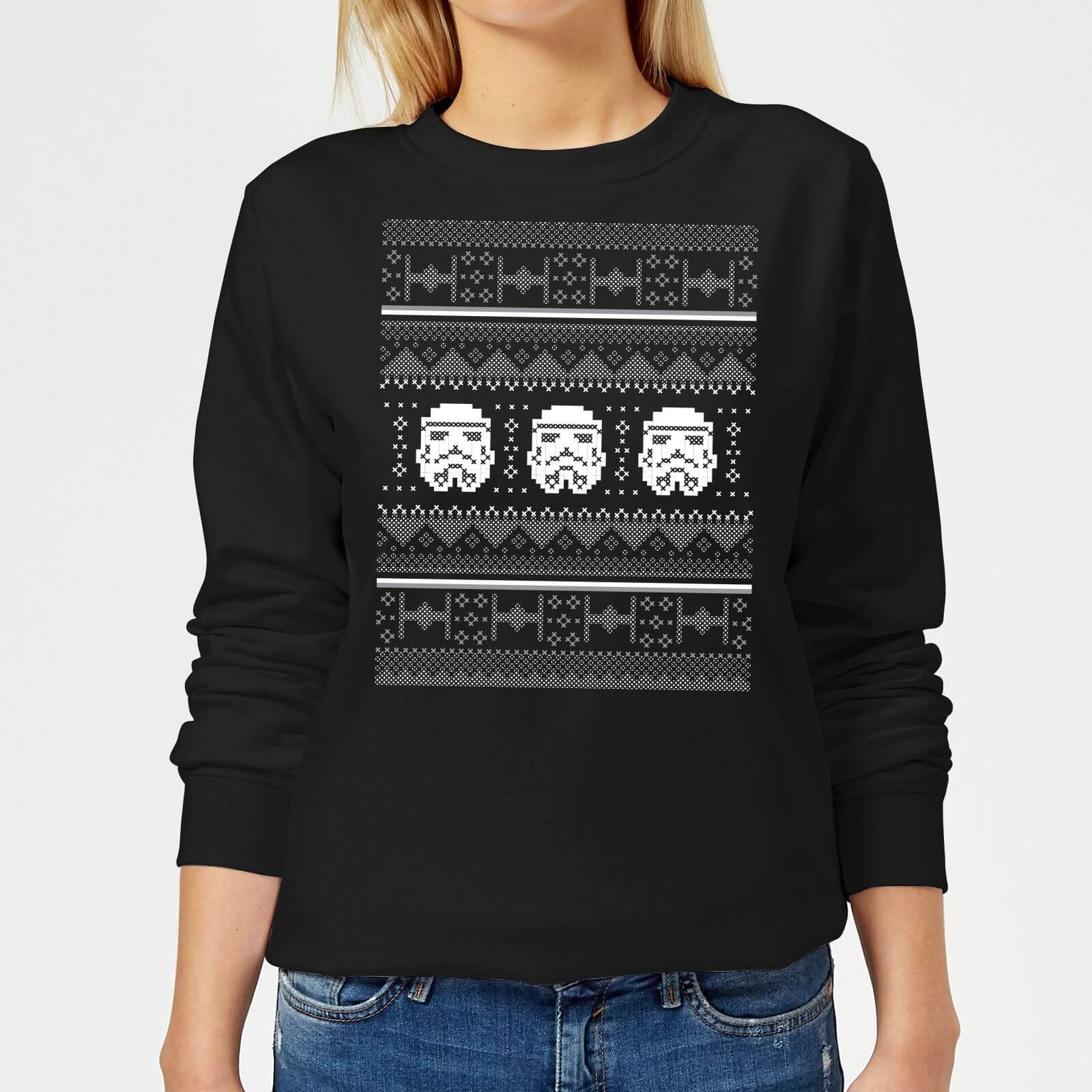 Star Wars Stormtrooper Knit Women's Christmas Sweatshirt - Black - XL - Schwarz