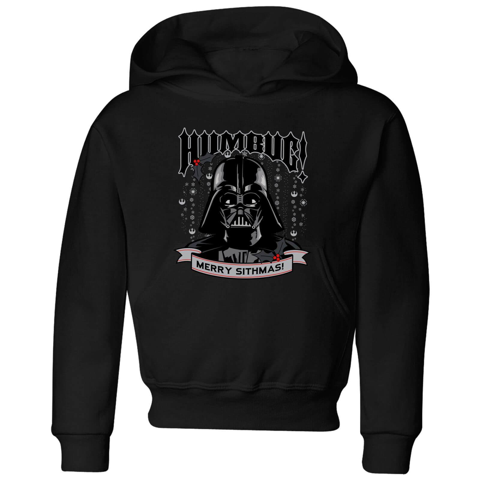 Star Wars Darth Vader Humbug Kids' Christmas Hoodie - Black - 5-6 Jahre - Schwarz
