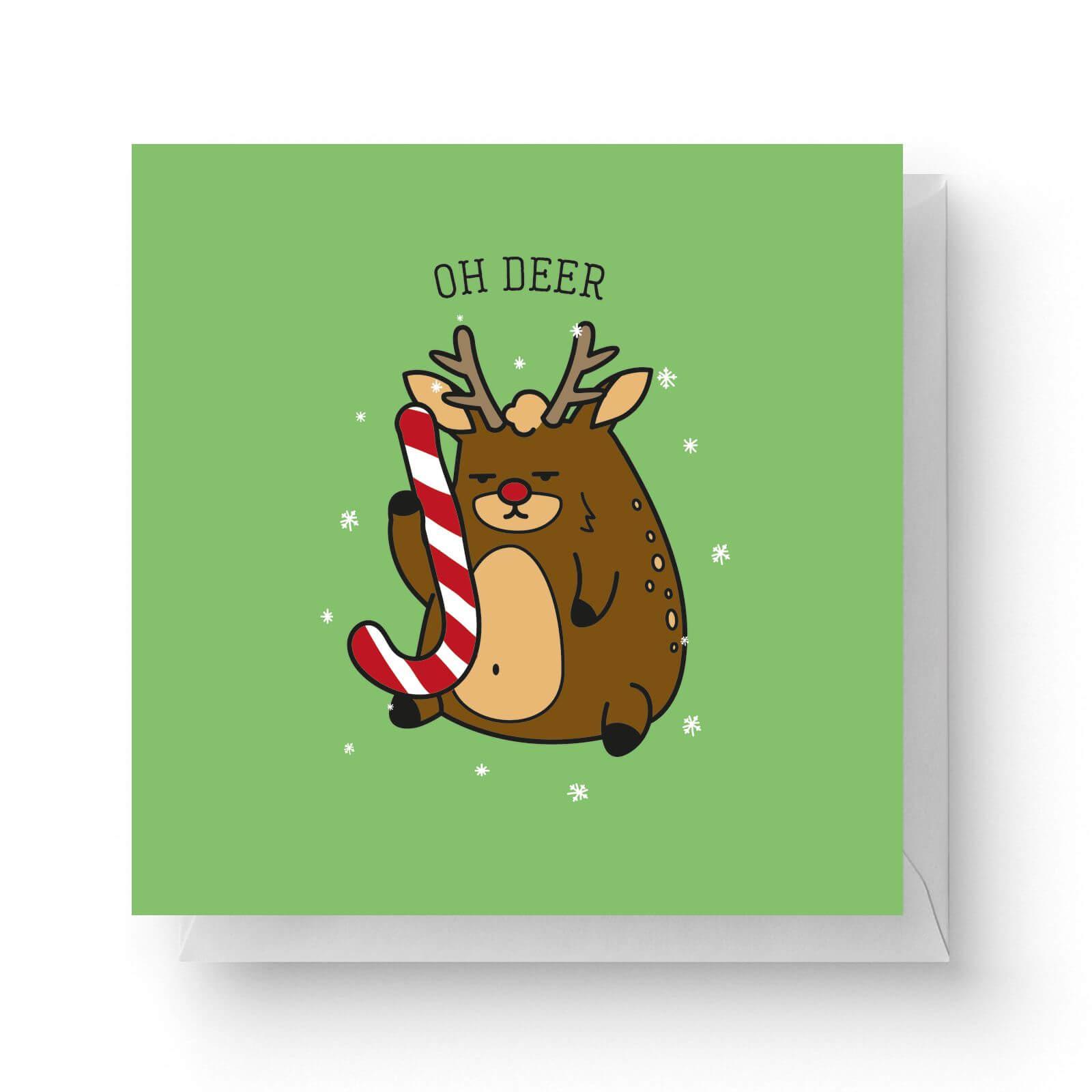 Image of Oh Deer Square Greetings Card (14.8cm x 14.8cm)