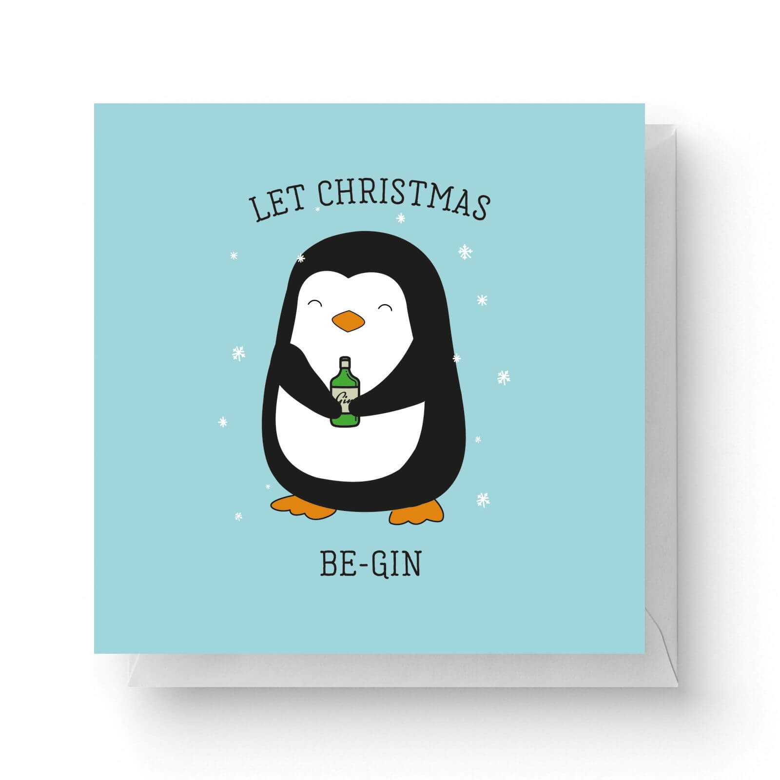 Image of Let Christmas Be-Gin Square Greetings Card (14.8cm x 14.8cm)