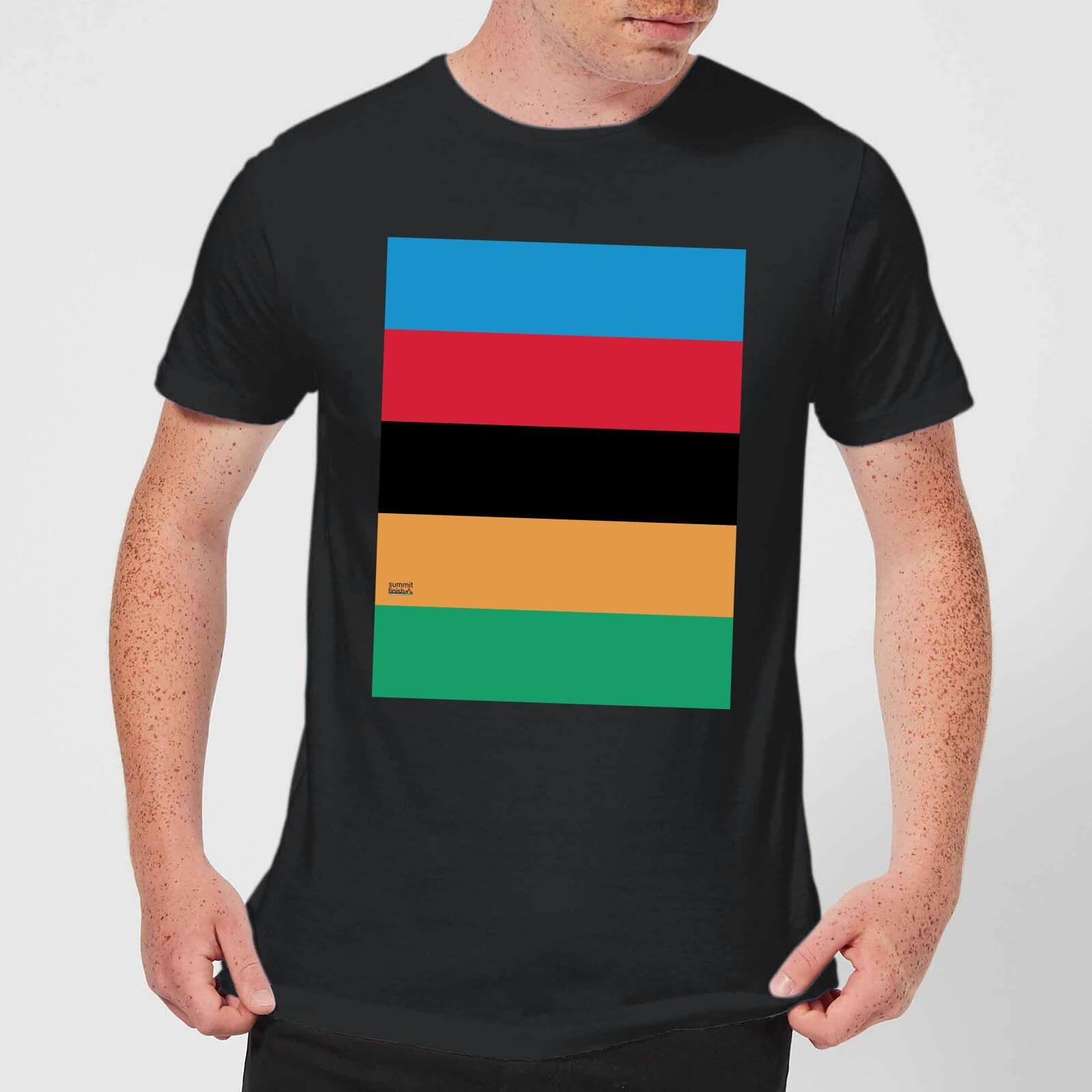 Summit Finish World Champion Stripes Men's T-Shirt - Black - 3XL - Black