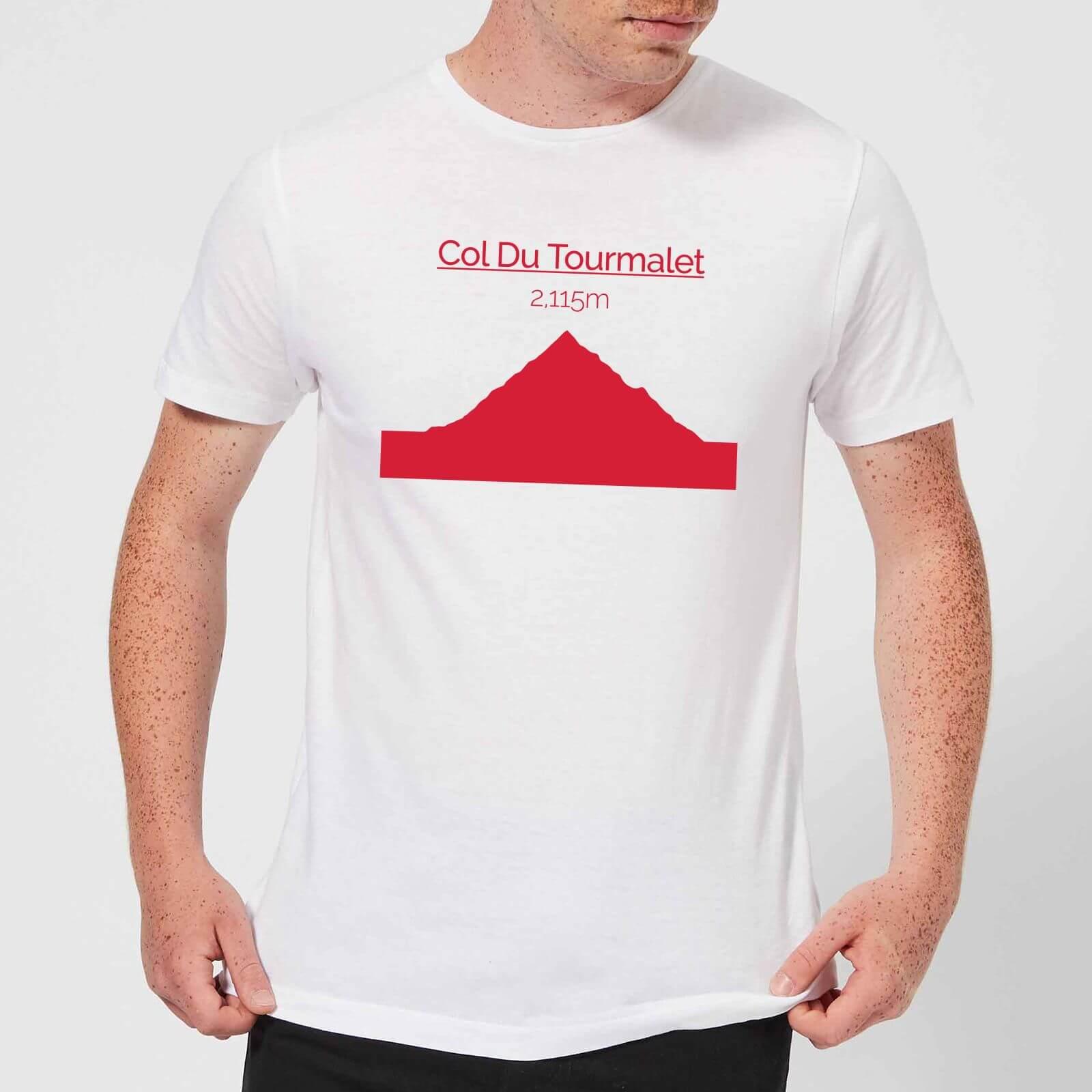 Summit Finish Col du Tourmalet Men's T-Shirt - White - S - White