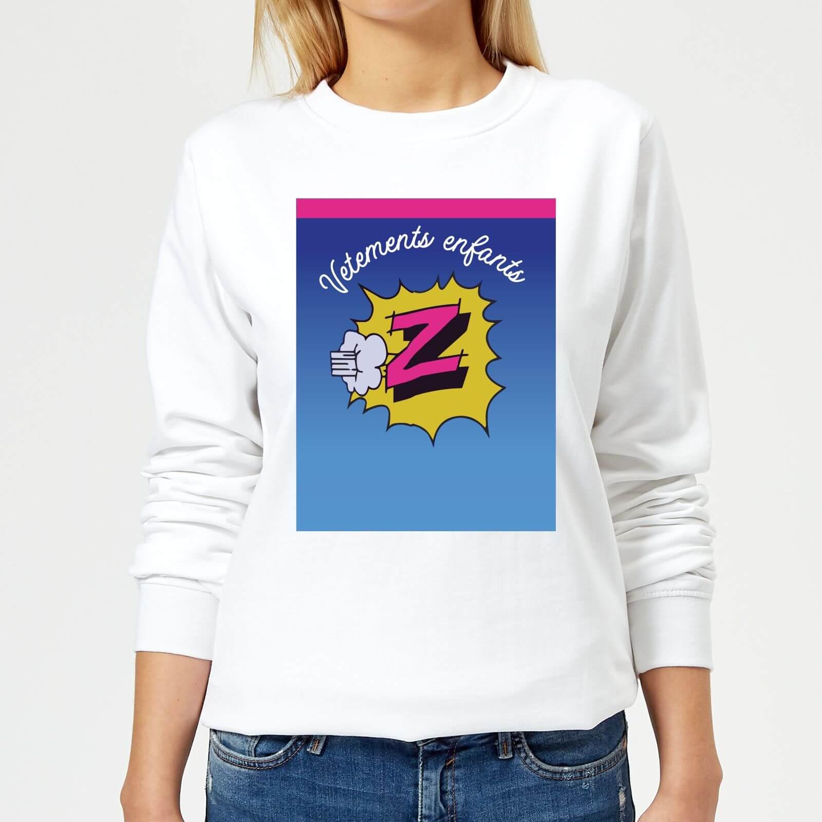 Summit Finish Z Vetements Womens Sweatshirt - White - S - White