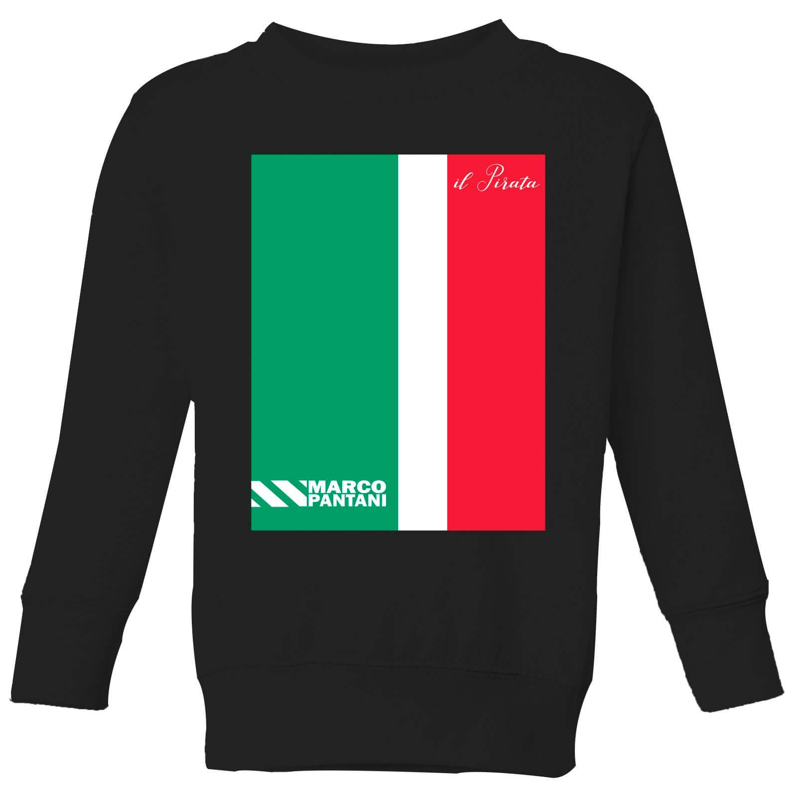Summit Finish Pantani Il Pirata Kids' Sweatshirt - Black - 5-6 Years - Black