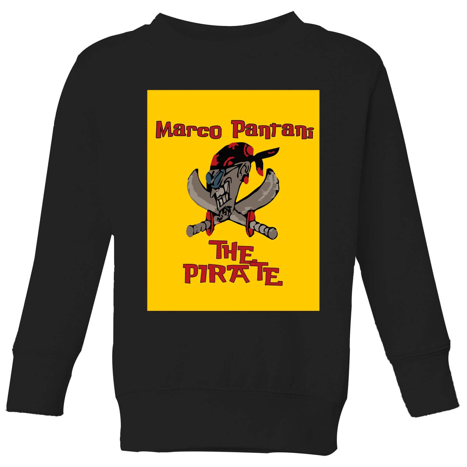 Summit Finish Pantani The Pirate Kids' Sweatshirt - Black - 7-8 Years - Black
