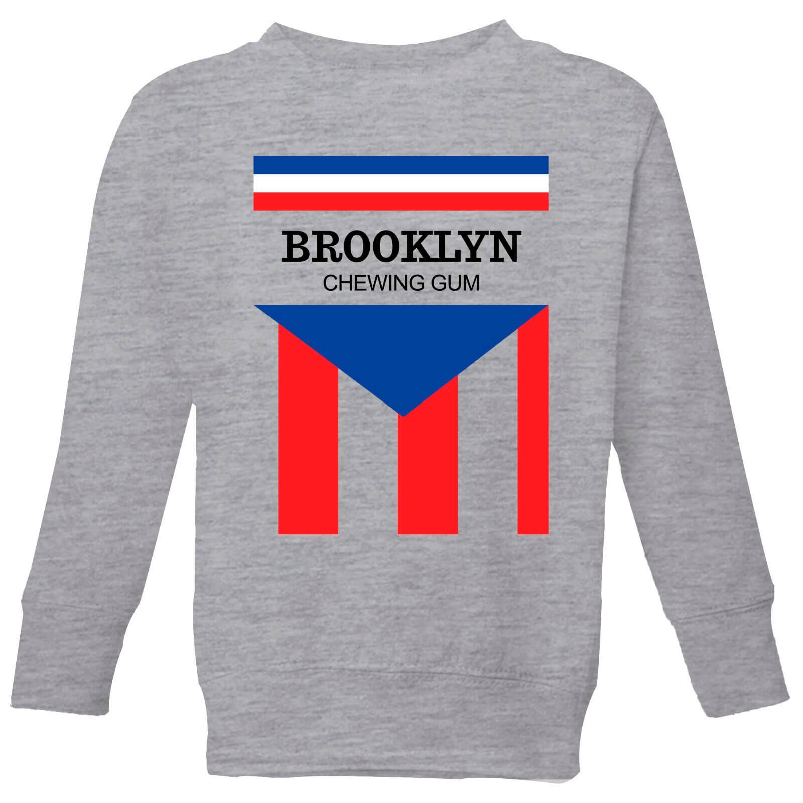 Summit Finish Brooklyn Chewing Gum Kids' Sweatshirt - Grey - 11-12 Years - Grey