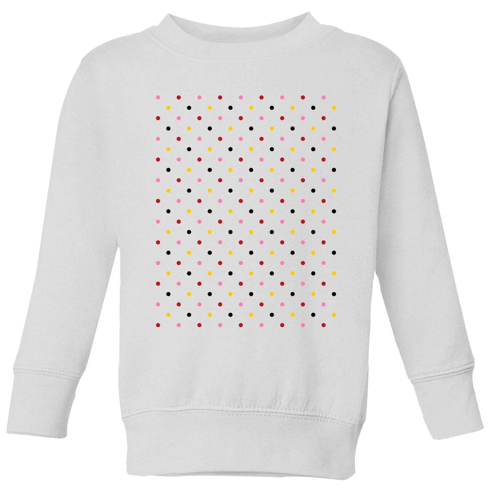 Summit Finish Grand Tour Dots Kids' Sweatshirt - White - 11-12 Jahre - Weiß