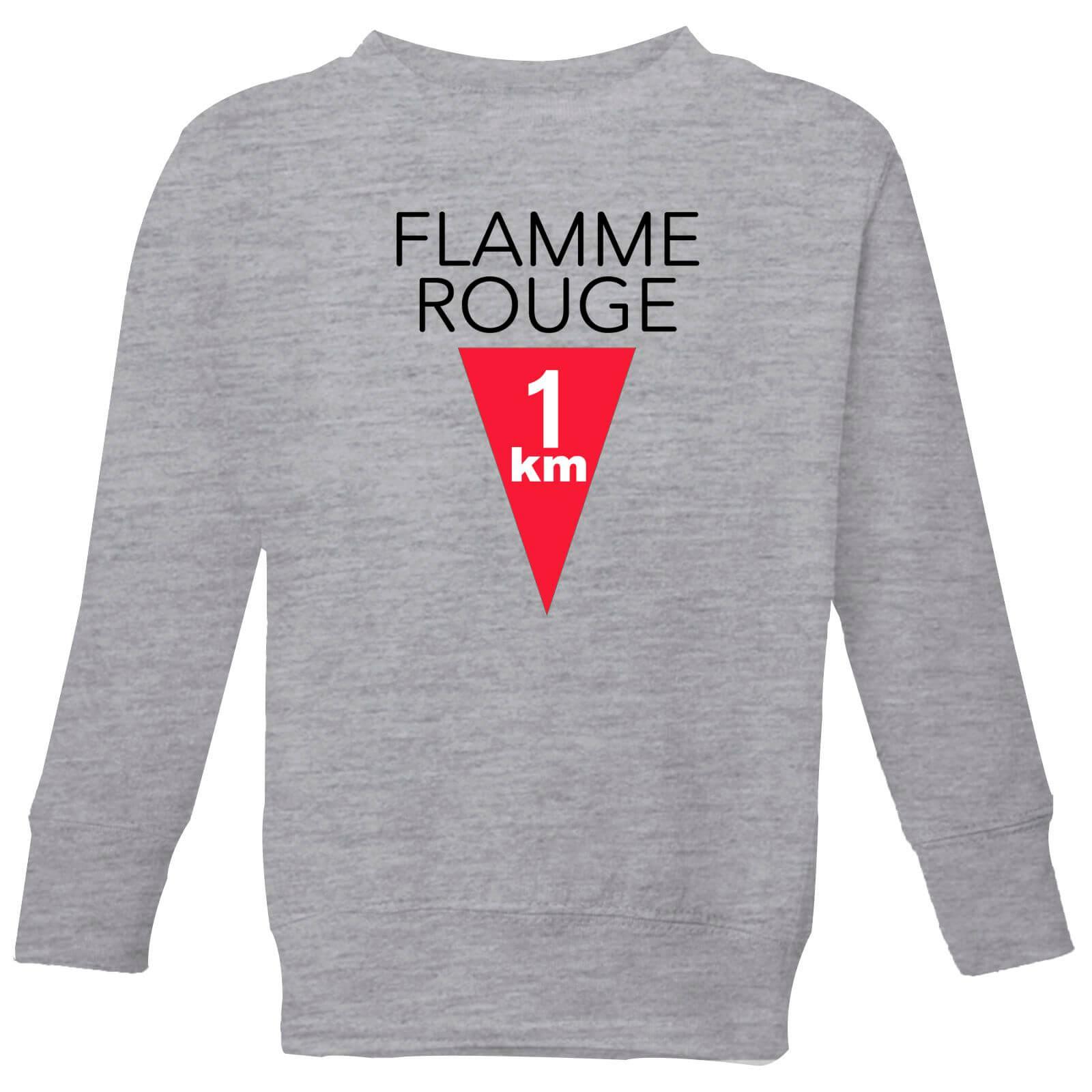 Summit Finish Flamme Rouge Kids' Sweatshirt - Grey - 9-10 Years - Grey