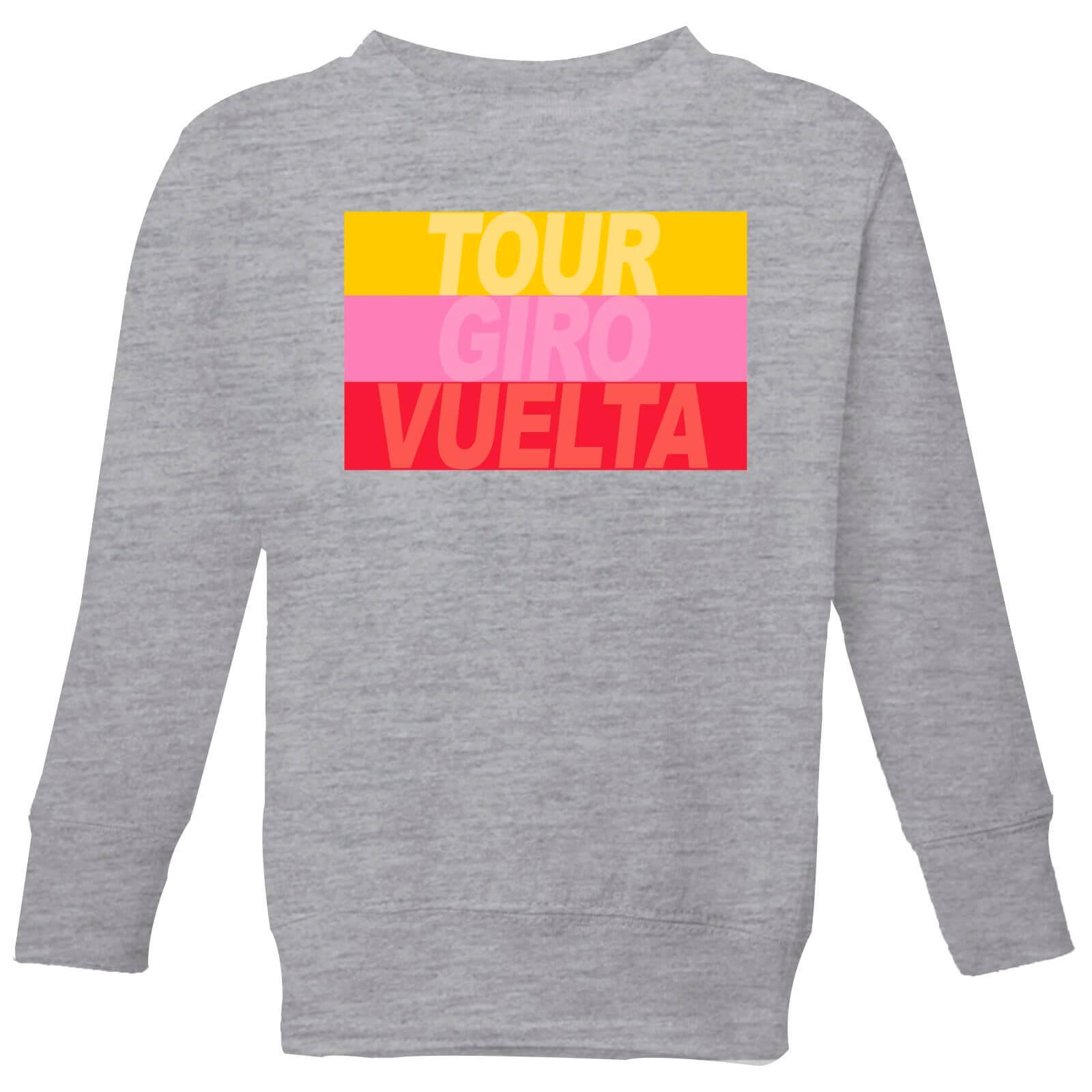 Summit Finish Grand Tour Stripes Kids' Sweatshirt - Grey - 7-8 Jahre - Grau