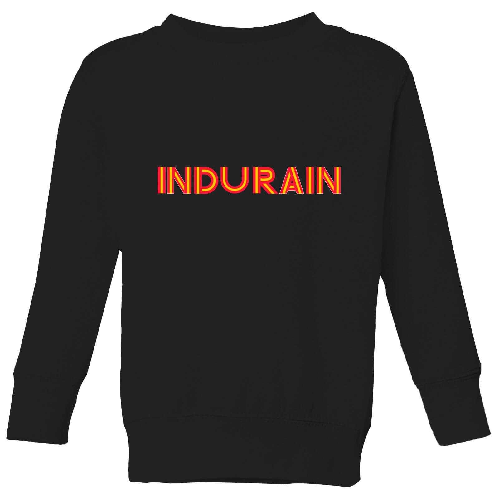 Summit Finish Indurain - Rider Name Kids' Sweatshirt - Black - 9-10 Jahre - Schwarz