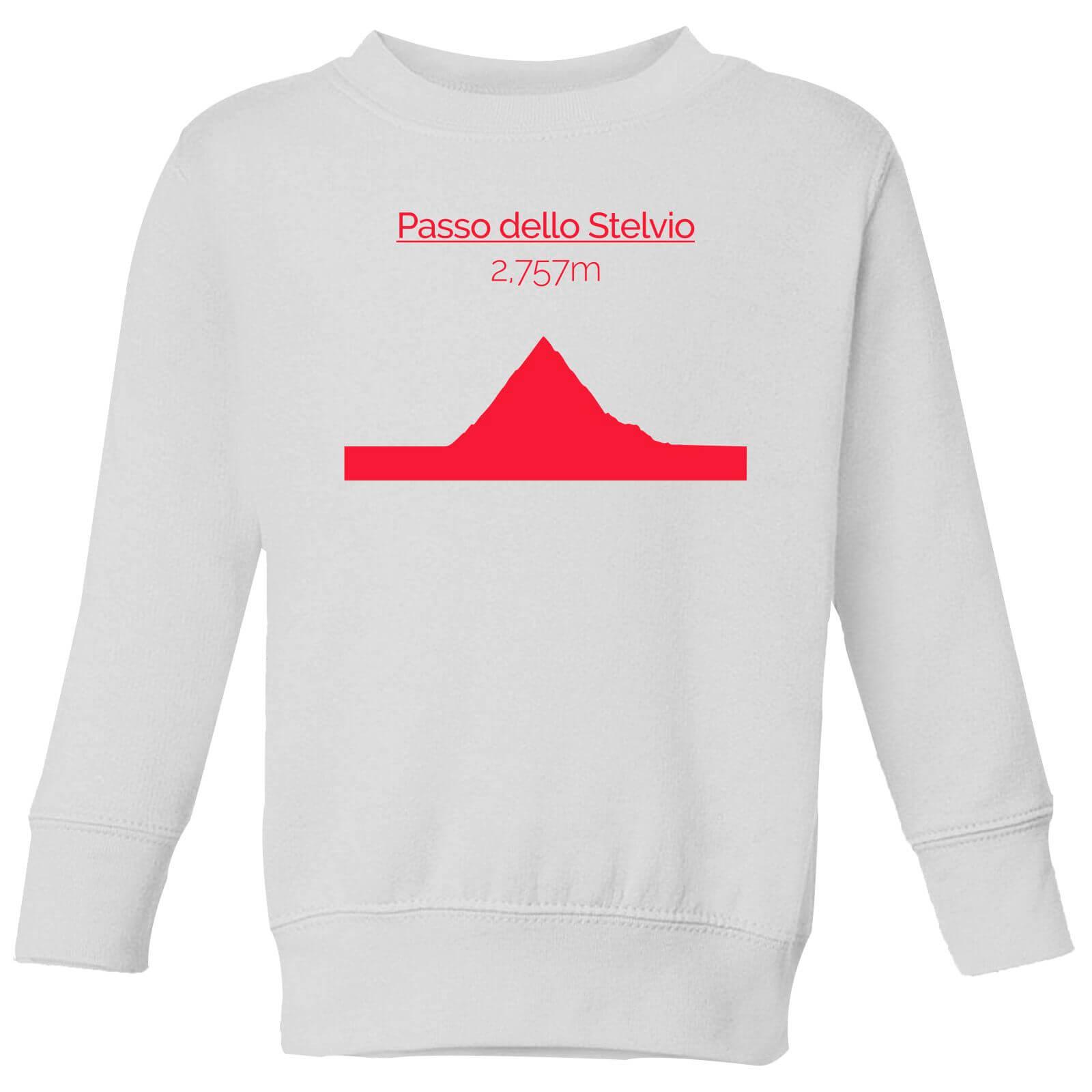 Summit Finish Passo Dello Stelvio Kids' Sweatshirt - White - 7-8 Years - White