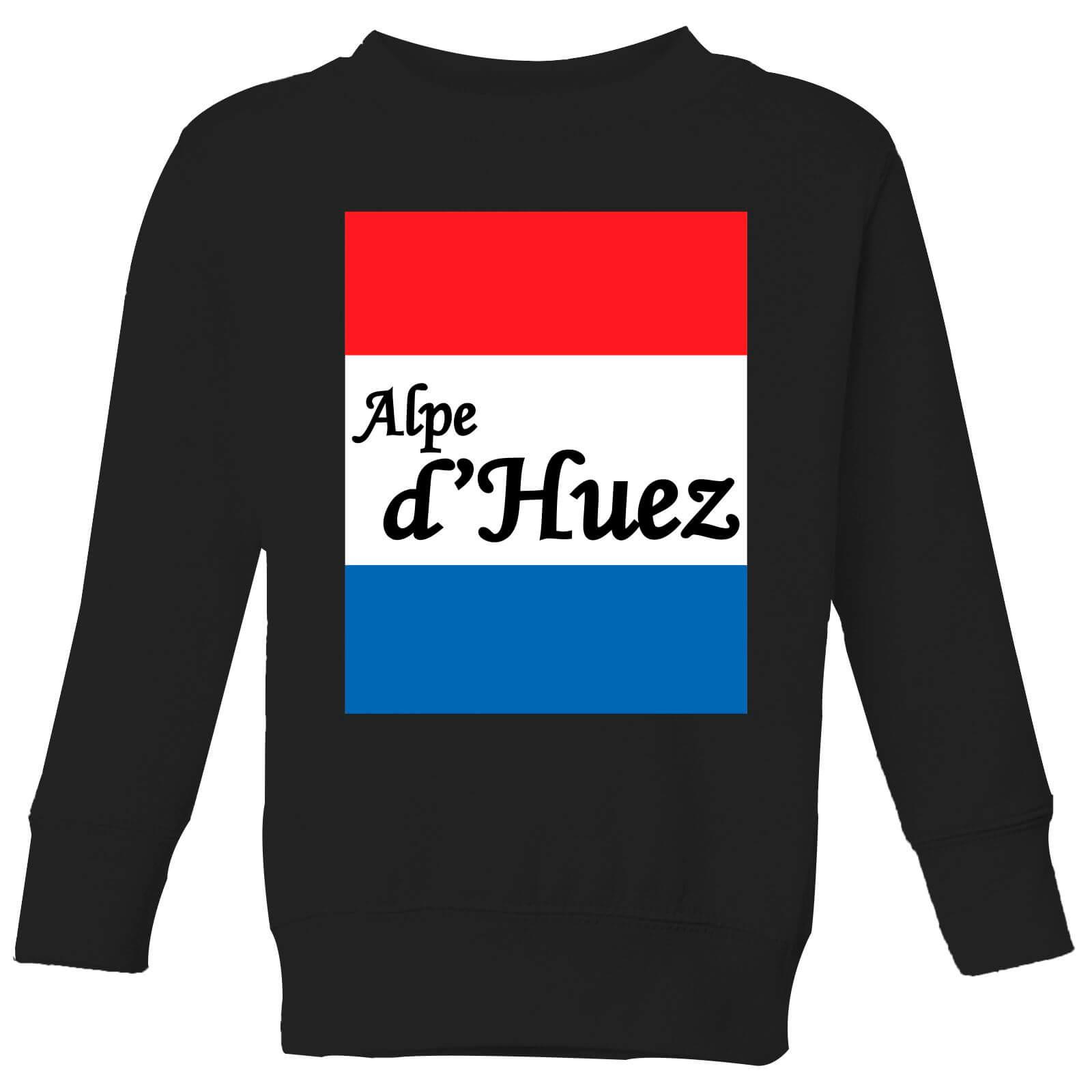 Summit Finish Alpe D'Huez Kids' Sweatshirt - Black - 9-10 Jahre - Schwarz