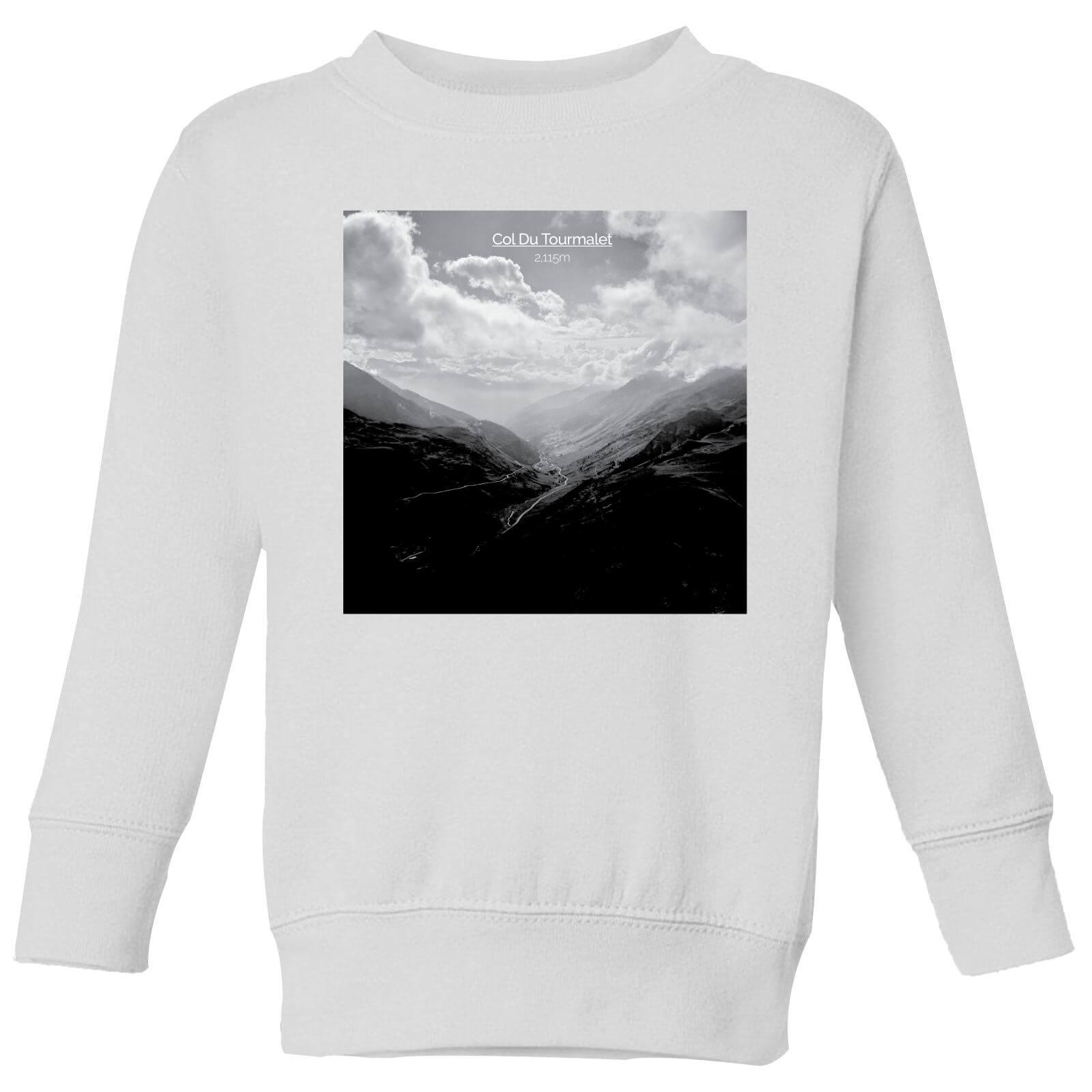 Summit Finish Col du Tourmalet Scenery Kids' Sweatshirt - White - 3-4 Jahre - Weiß
