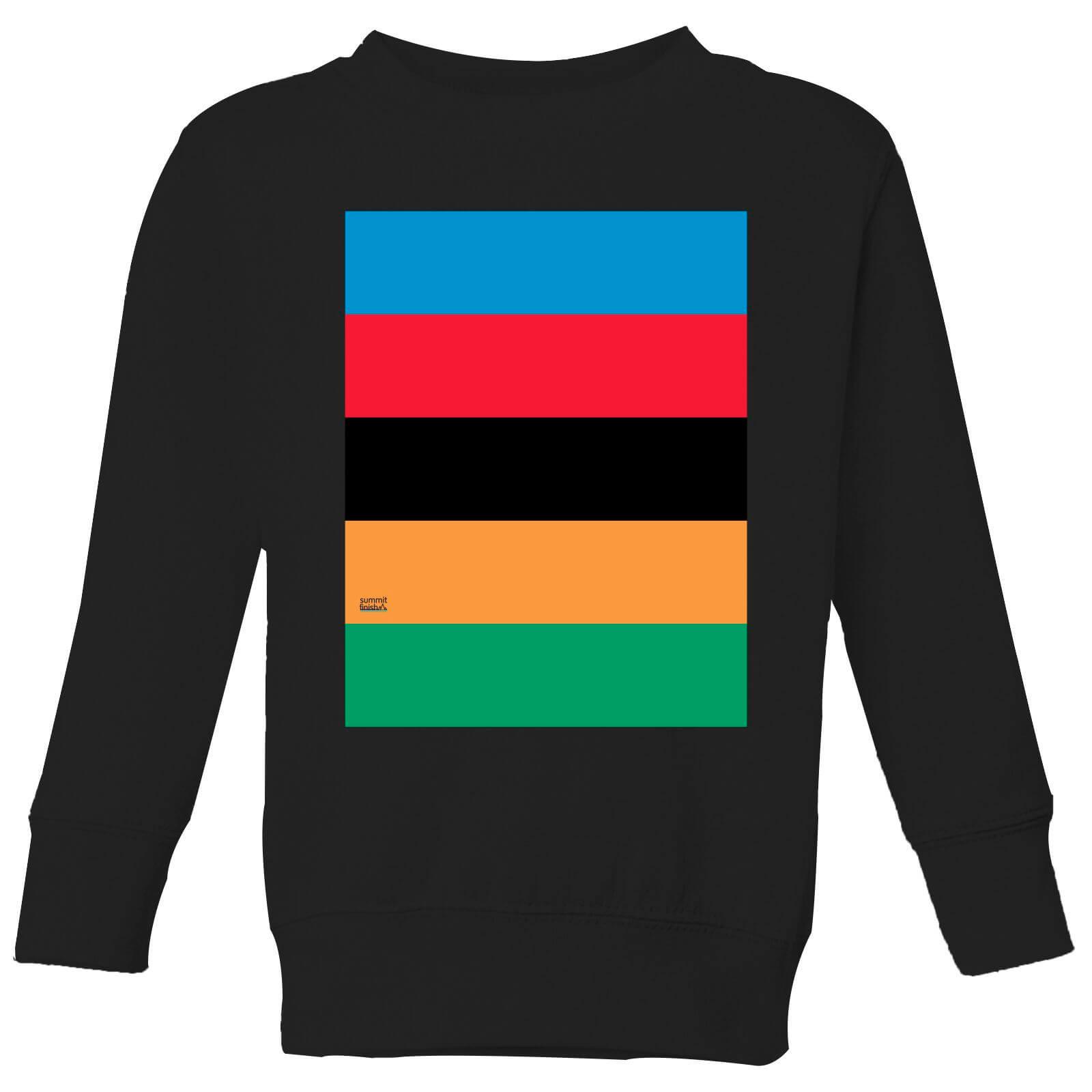 Summit Finish World Champion Stripes Kids' Sweatshirt - Black - 11-12 Jahre - Schwarz