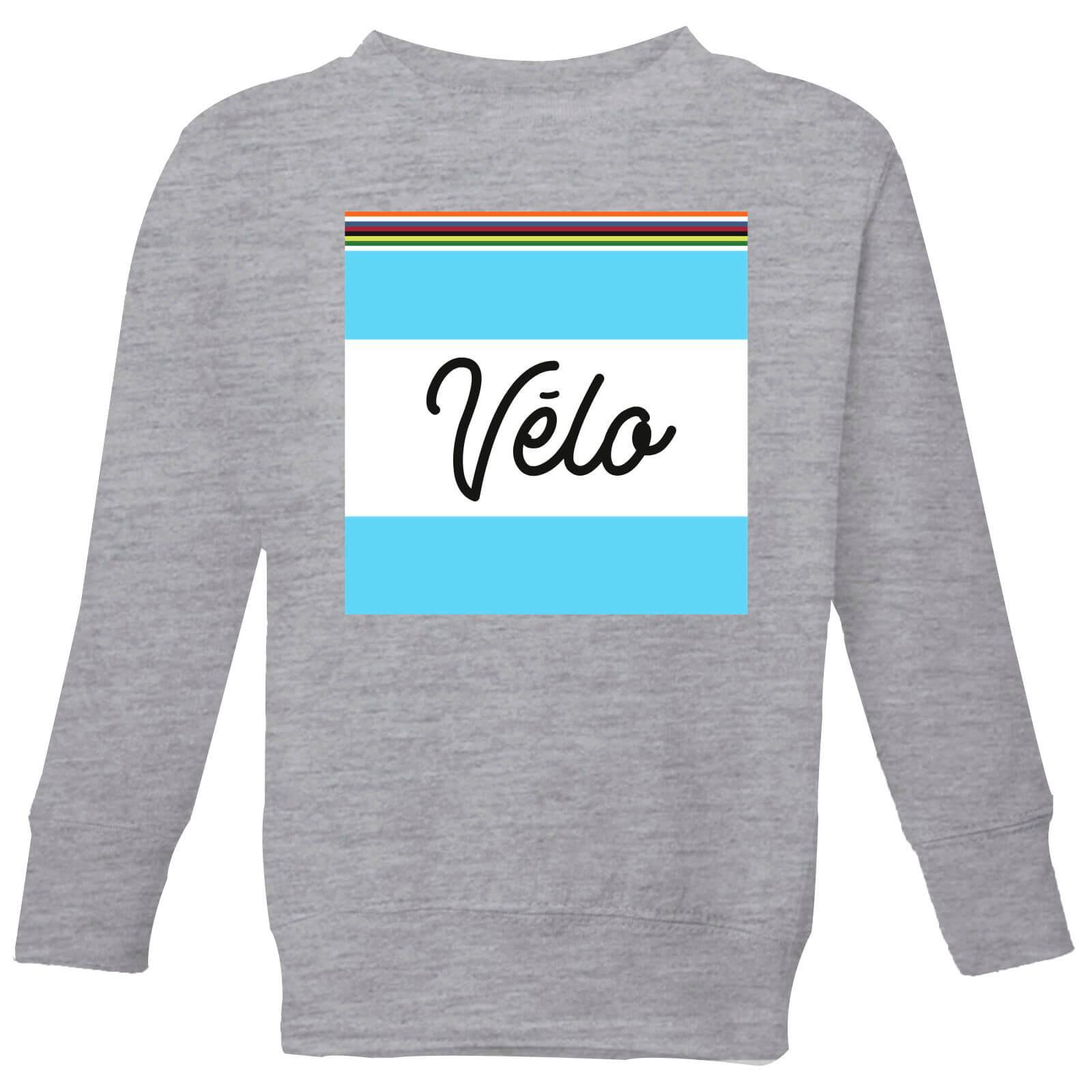 Summit Finish Velo Kids Sweatshirt - Grey - 3-4 Jahre - Grau