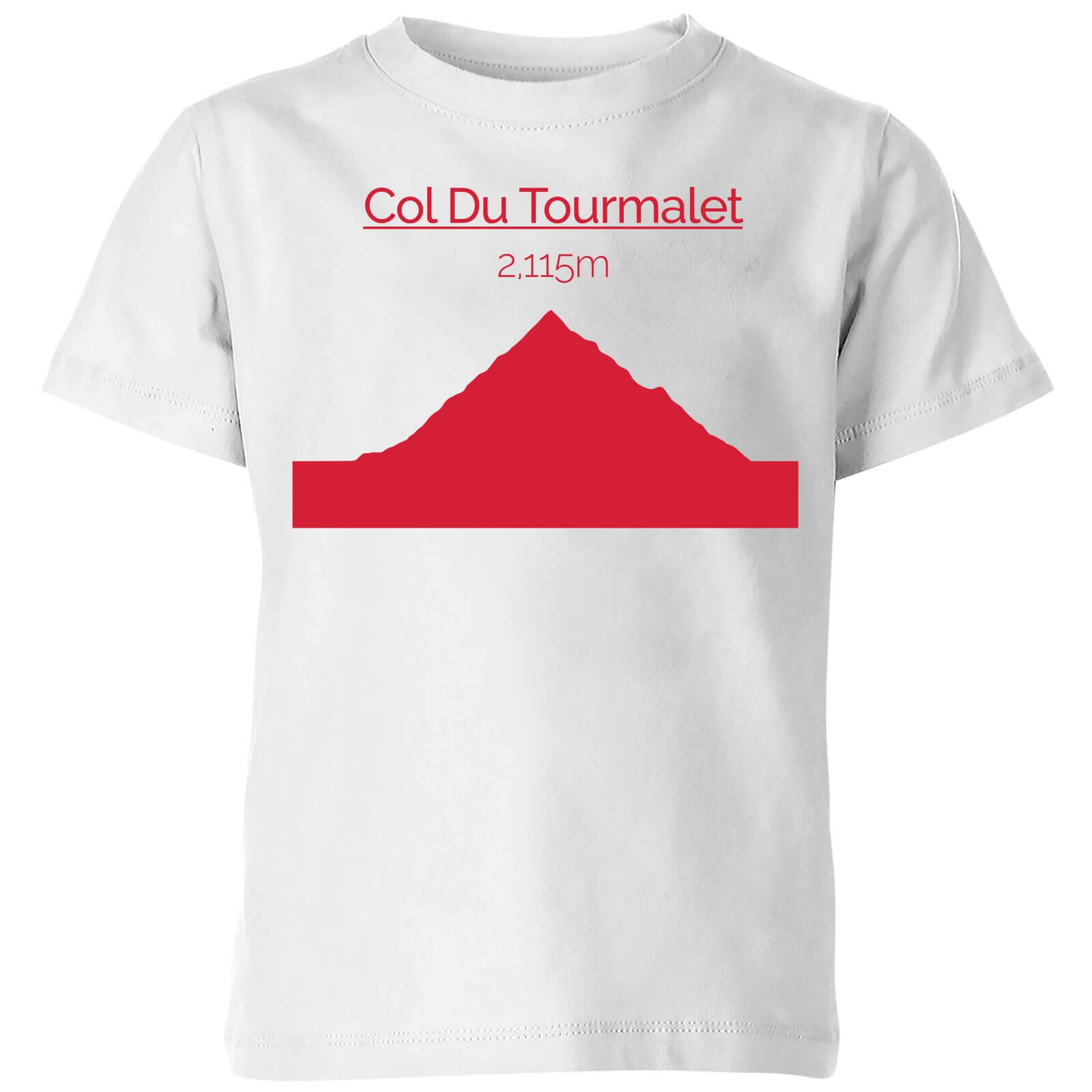 Summit Finish Col du Tourmalet Kids' T-Shirt - White - 11-12 Years - White