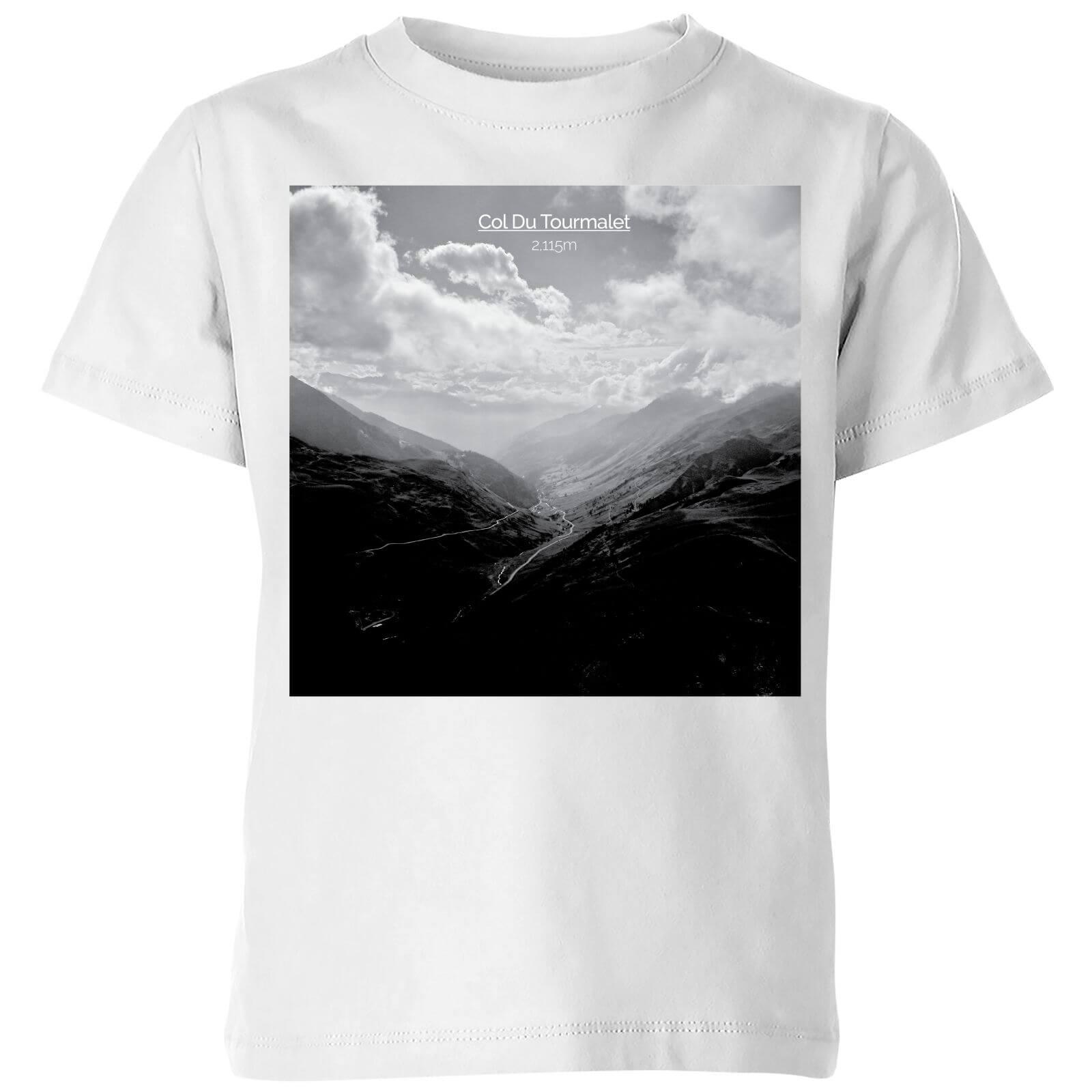 Summit Finish Col du Tourmalet Scenery Kids' T-Shirt - White - 3-4 Years - White