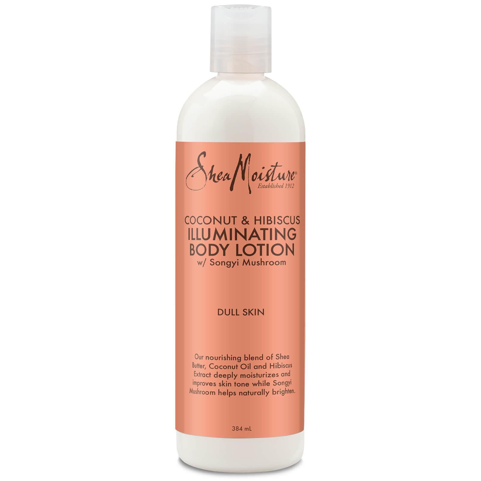 shea moisture coconut & hibiscus illuminating body lotion 384ml